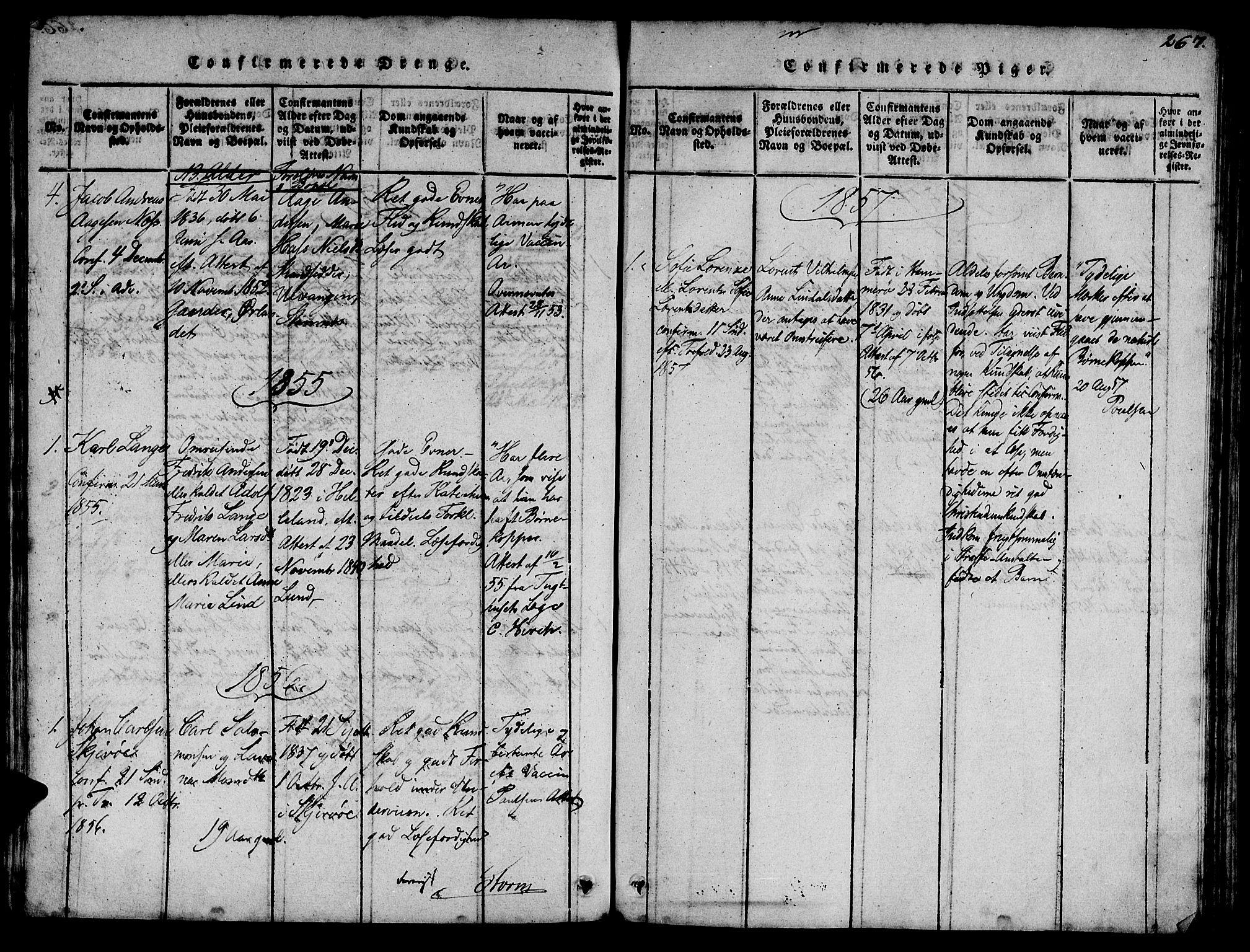 SAT, Ministerialprotokoller, klokkerbøker og fødselsregistre - Sør-Trøndelag, 623/L0478: Klokkerbok nr. 623C01, 1815-1873, s. 267