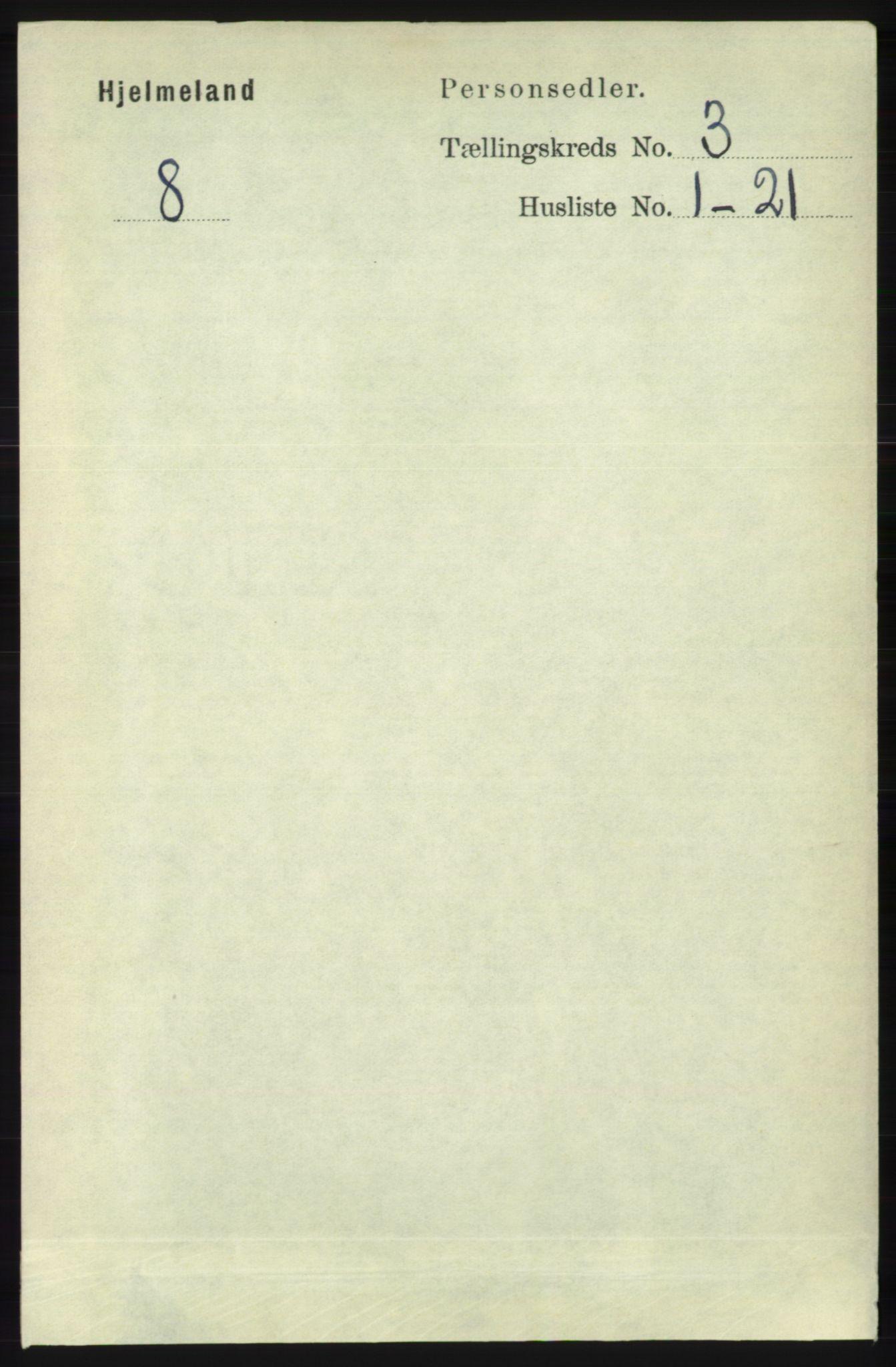 RA, Folketelling 1891 for 1133 Hjelmeland herred, 1891, s. 736
