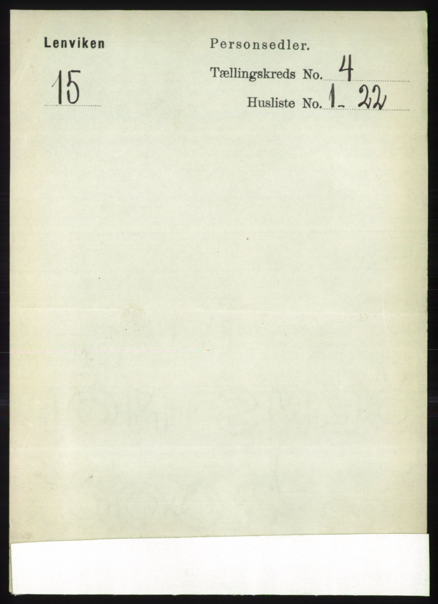 RA, Folketelling 1891 for 1931 Lenvik herred, 1891, s. 1916