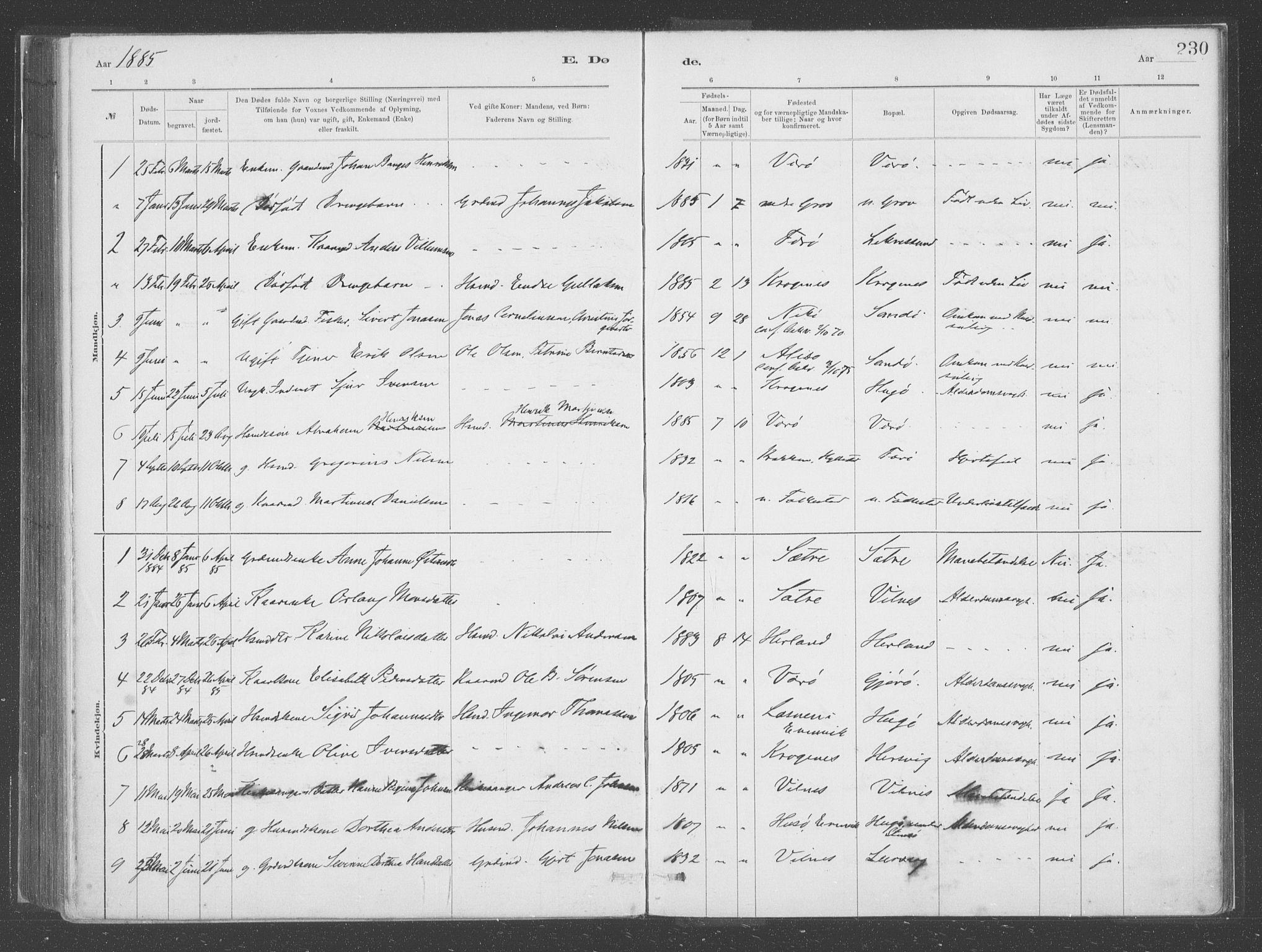 SAB, Askvoll Sokneprestembete, Ministerialbok nr. C  1, 1879-1922, s. 230