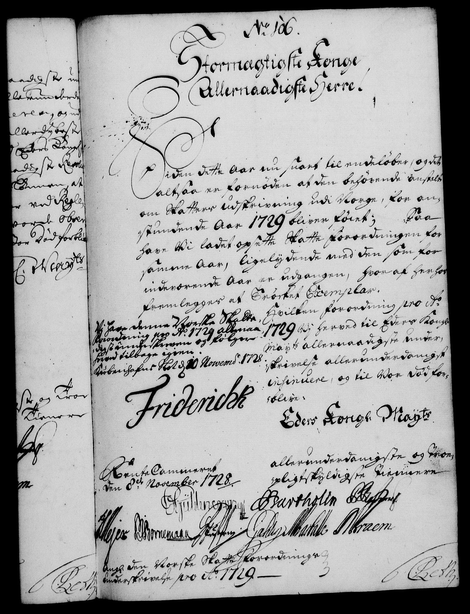 RA, Rentekammeret, Kammerkanselliet, G/Gf/Gfa/L0011: Norsk relasjons- og resolusjonsprotokoll (merket RK 52.11), 1728, s. 735