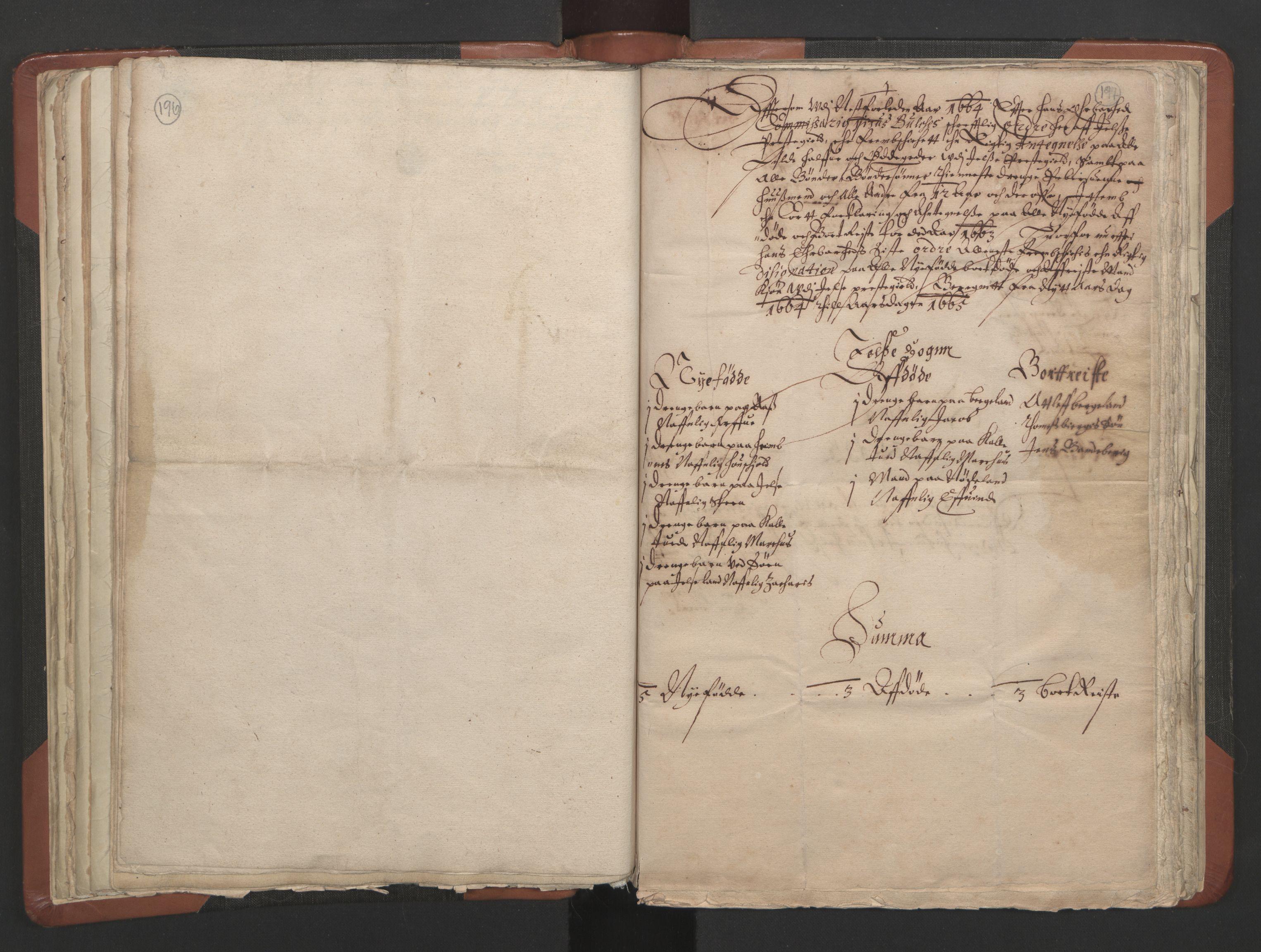 RA, Sogneprestenes manntall 1664-1666, nr. 19: Ryfylke prosti, 1664-1666, s. 196-197