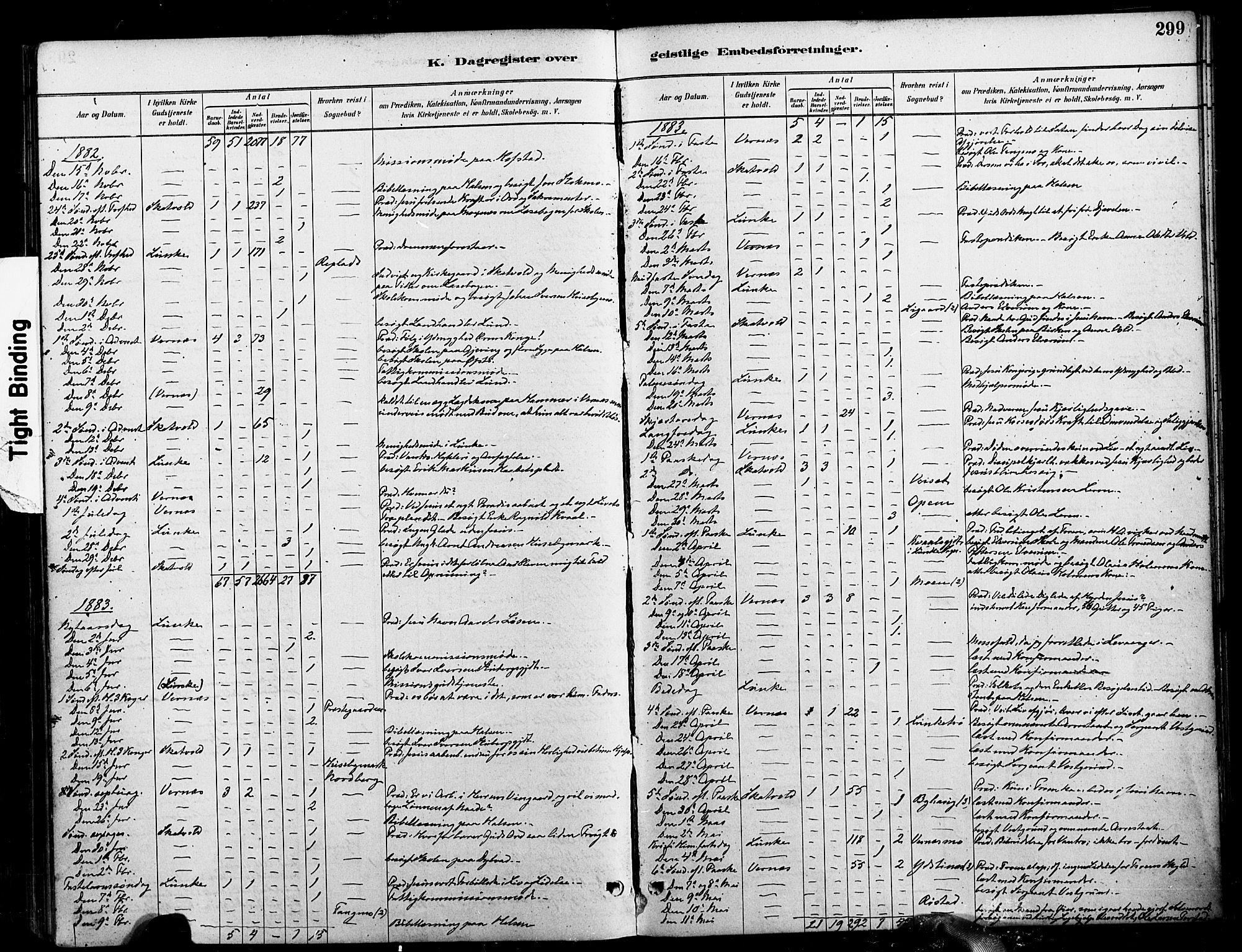 SAT, Ministerialprotokoller, klokkerbøker og fødselsregistre - Nord-Trøndelag, 709/L0077: Ministerialbok nr. 709A17, 1880-1895, s. 299
