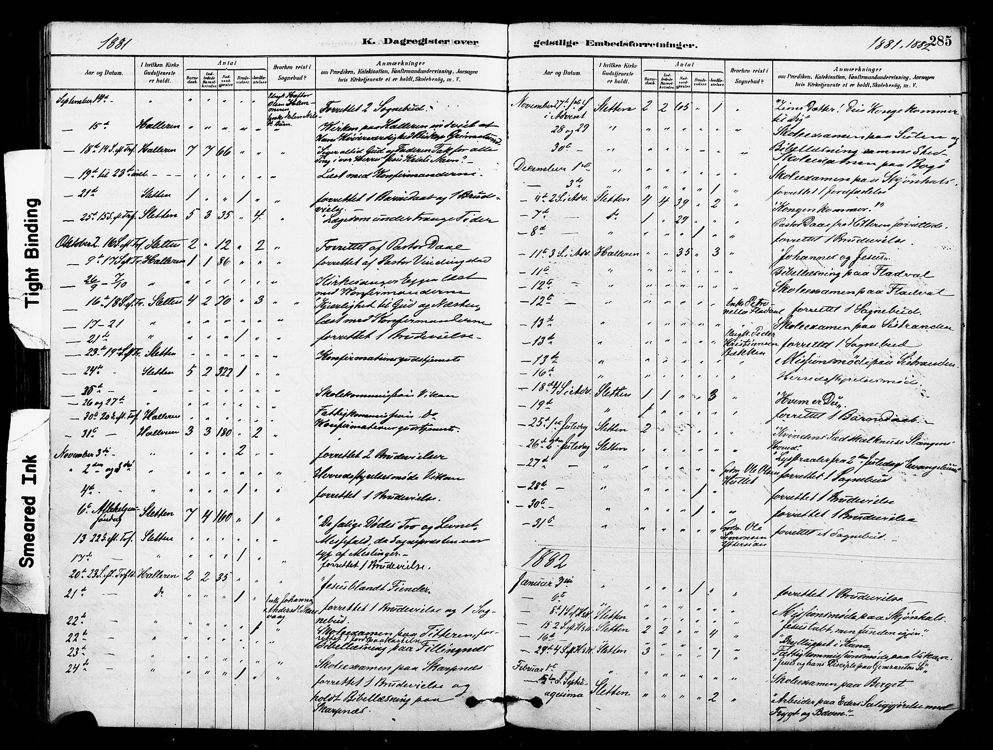 SAT, Ministerialprotokoller, klokkerbøker og fødselsregistre - Sør-Trøndelag, 640/L0578: Ministerialbok nr. 640A03, 1879-1889, s. 285