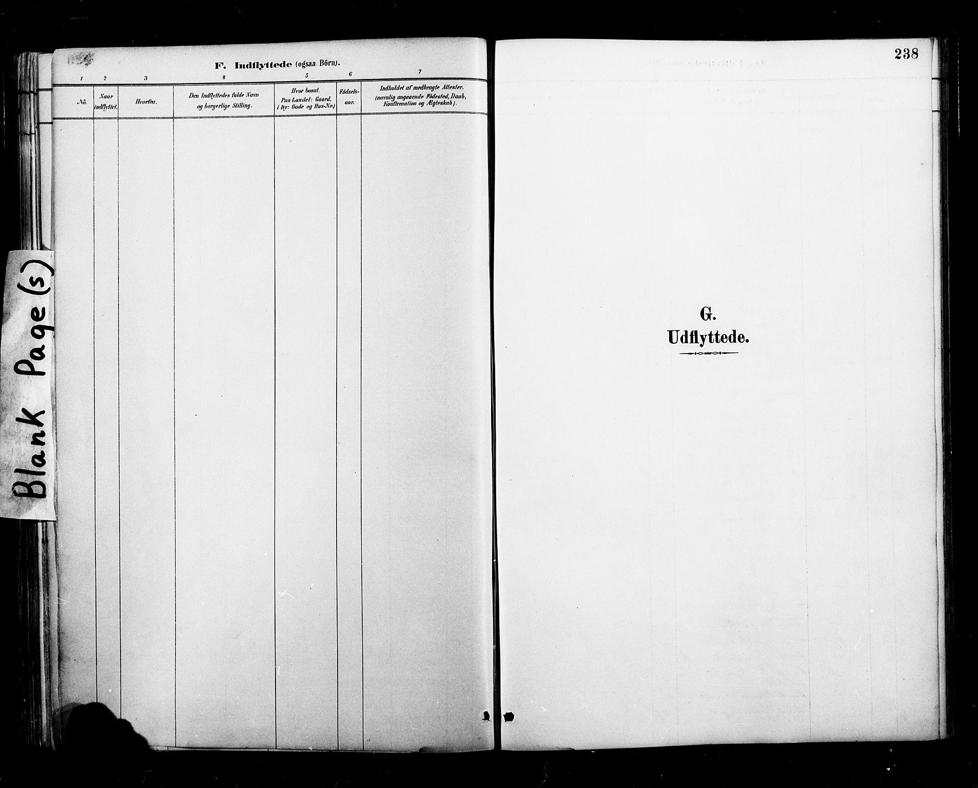 SAT, Ministerialprotokoller, klokkerbøker og fødselsregistre - Nordland, 827/L0401: Ministerialbok nr. 827A13, 1887-1905, s. 238