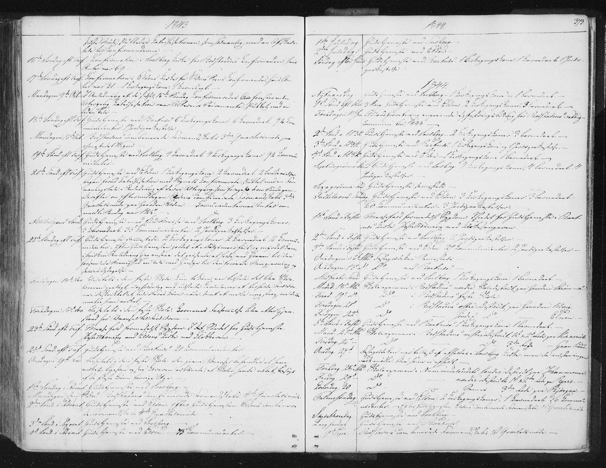 SAT, Ministerialprotokoller, klokkerbøker og fødselsregistre - Nord-Trøndelag, 741/L0392: Ministerialbok nr. 741A06, 1836-1848, s. 373
