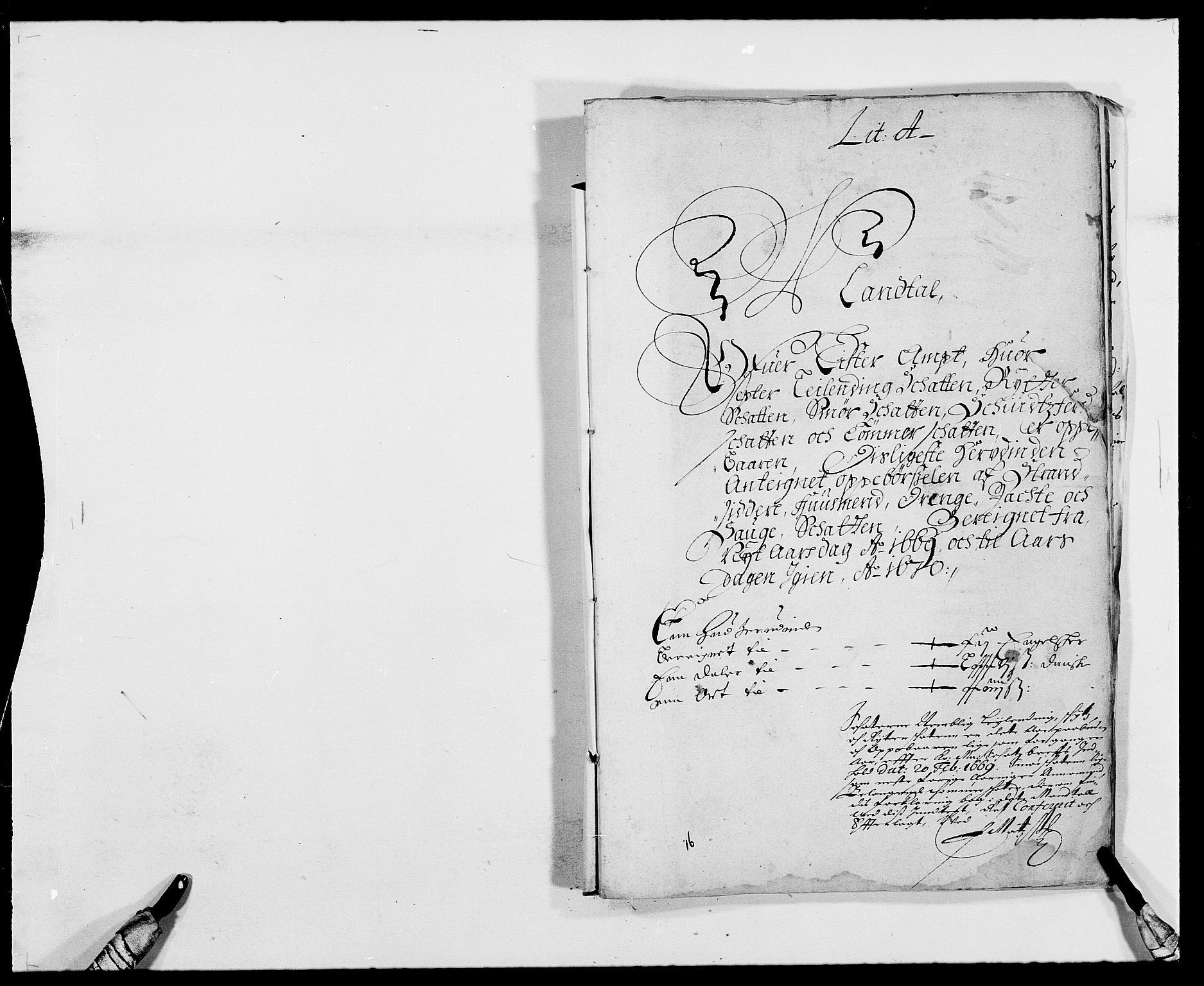RA, Rentekammeret inntil 1814, Reviderte regnskaper, Fogderegnskap, R41/L2525: Fogderegnskap Lista, 1669-1671, s. 7