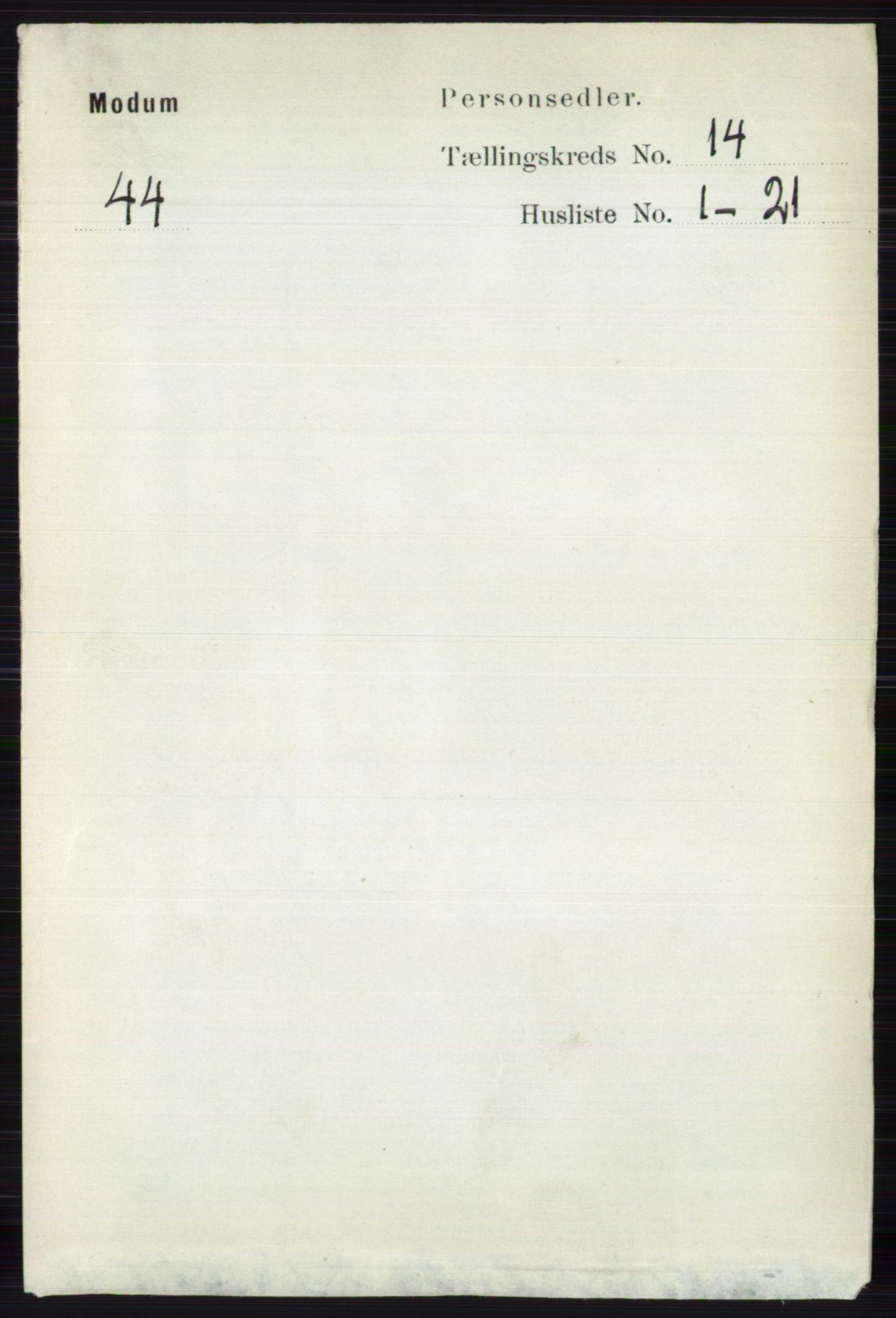 RA, Folketelling 1891 for 0623 Modum herred, 1891, s. 5464