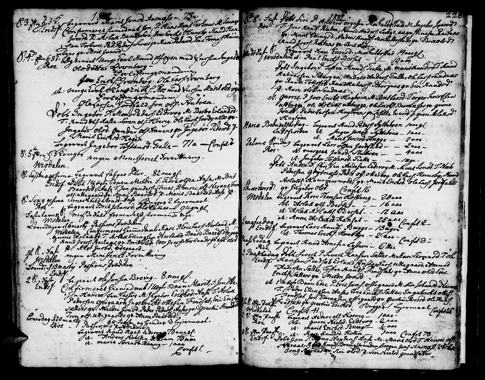 SAT, Ministerialprotokoller, klokkerbøker og fødselsregistre - Møre og Romsdal, 551/L0621: Ministerialbok nr. 551A01, 1757-1803, s. 228