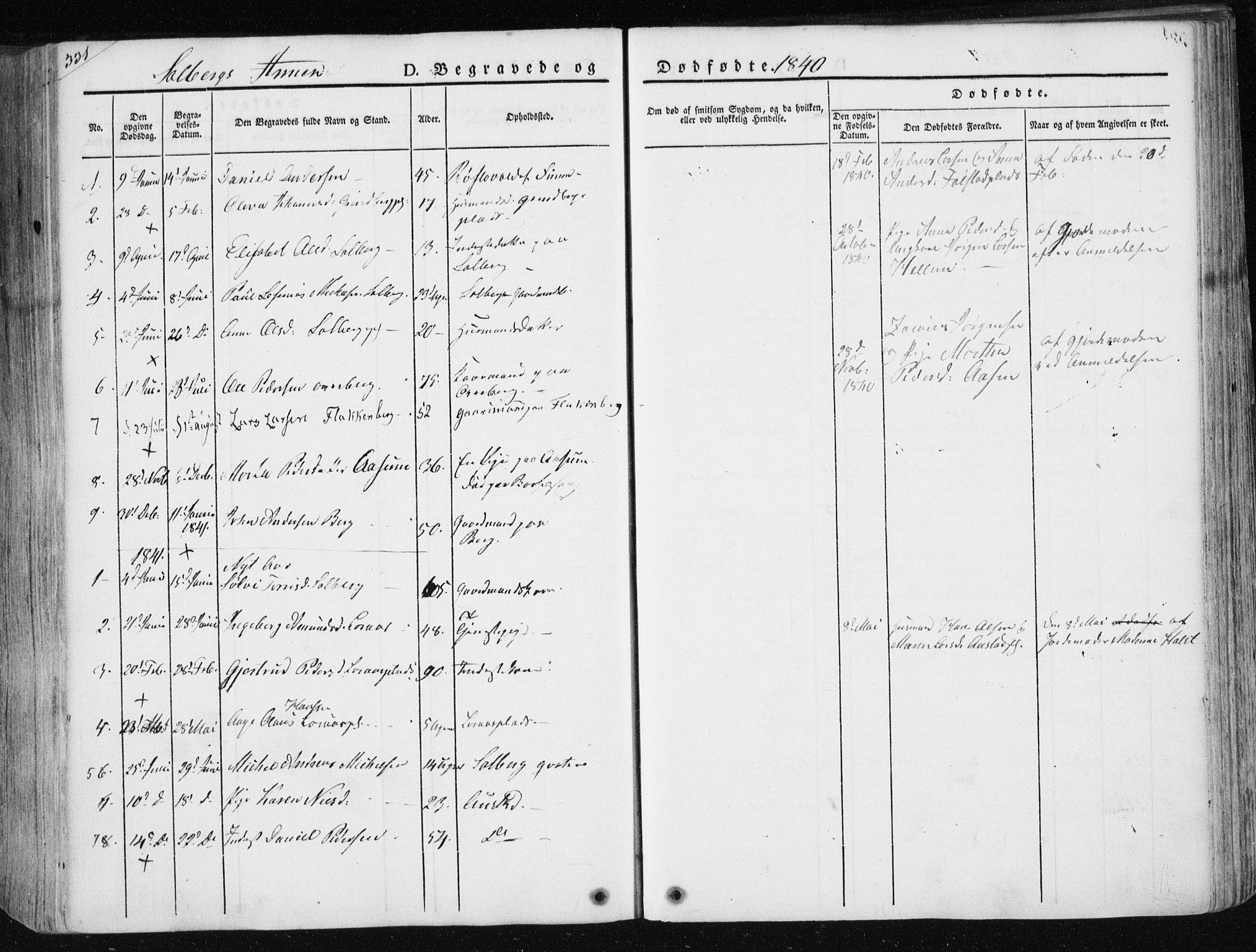 SAT, Ministerialprotokoller, klokkerbøker og fødselsregistre - Nord-Trøndelag, 730/L0280: Ministerialbok nr. 730A07 /2, 1840-1854, s. 321