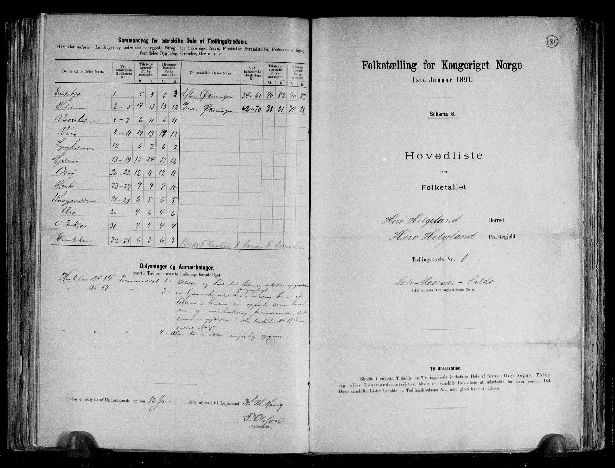 RA, Folketelling 1891 for 1818 Herøy herred, 1891, s. 14
