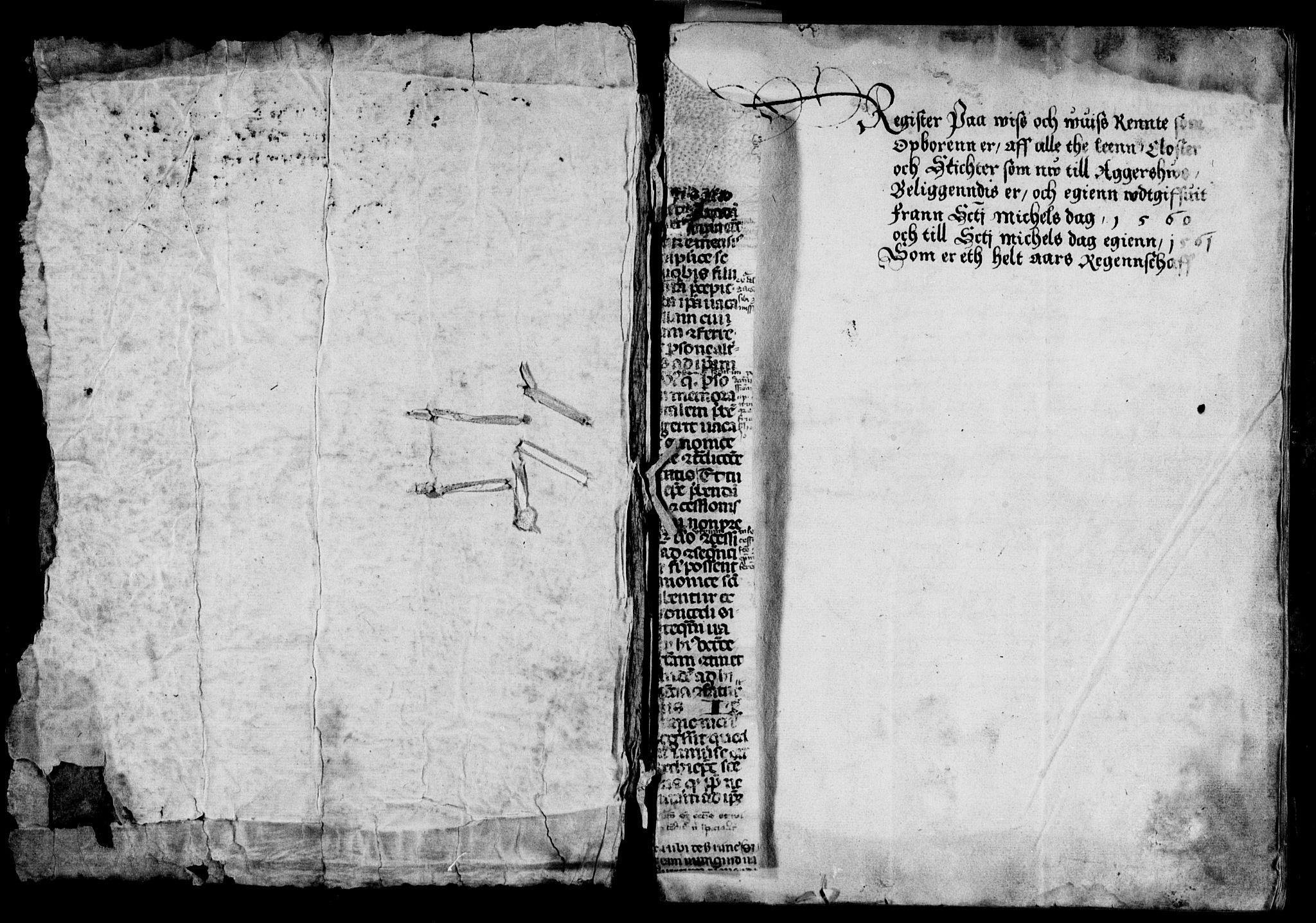RA, Rentekammeret inntil 1814, Reviderte regnskaper, Lensregnskaper, R/Ra/L0004: Akershus len, 1560-1561;  Bergenhus len, 1516-1517, 1516-1561