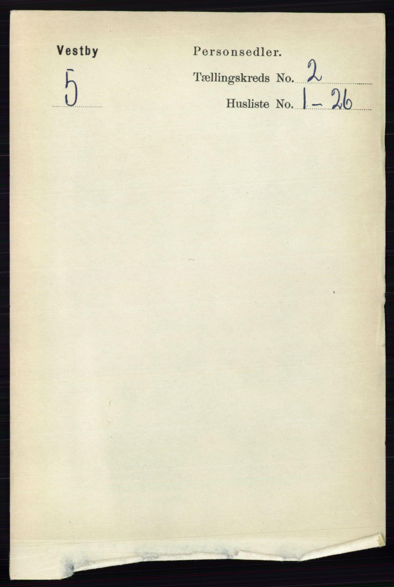 RA, Folketelling 1891 for 0211 Vestby herred, 1891, s. 433
