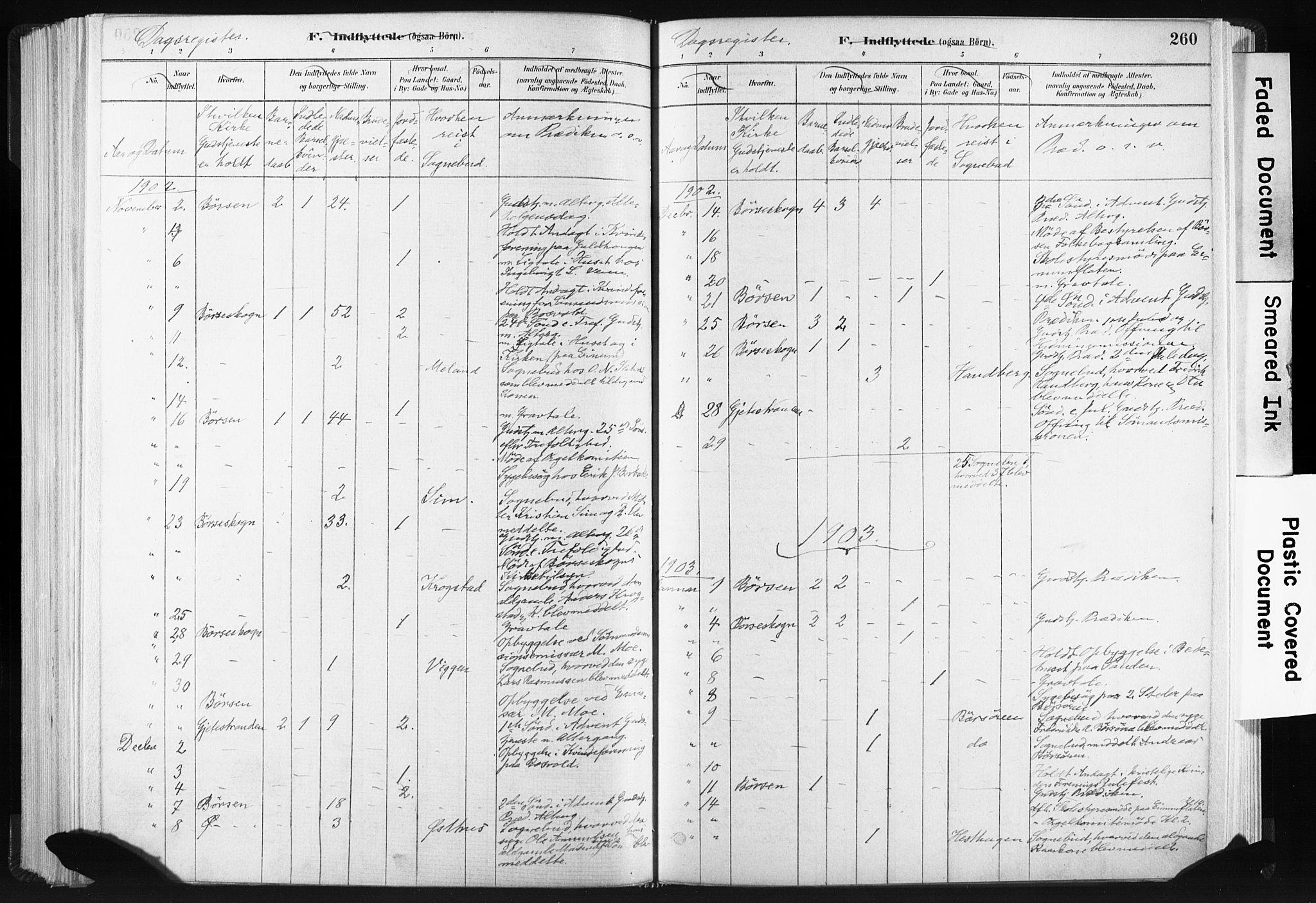 SAT, Ministerialprotokoller, klokkerbøker og fødselsregistre - Sør-Trøndelag, 665/L0773: Ministerialbok nr. 665A08, 1879-1905, s. 260