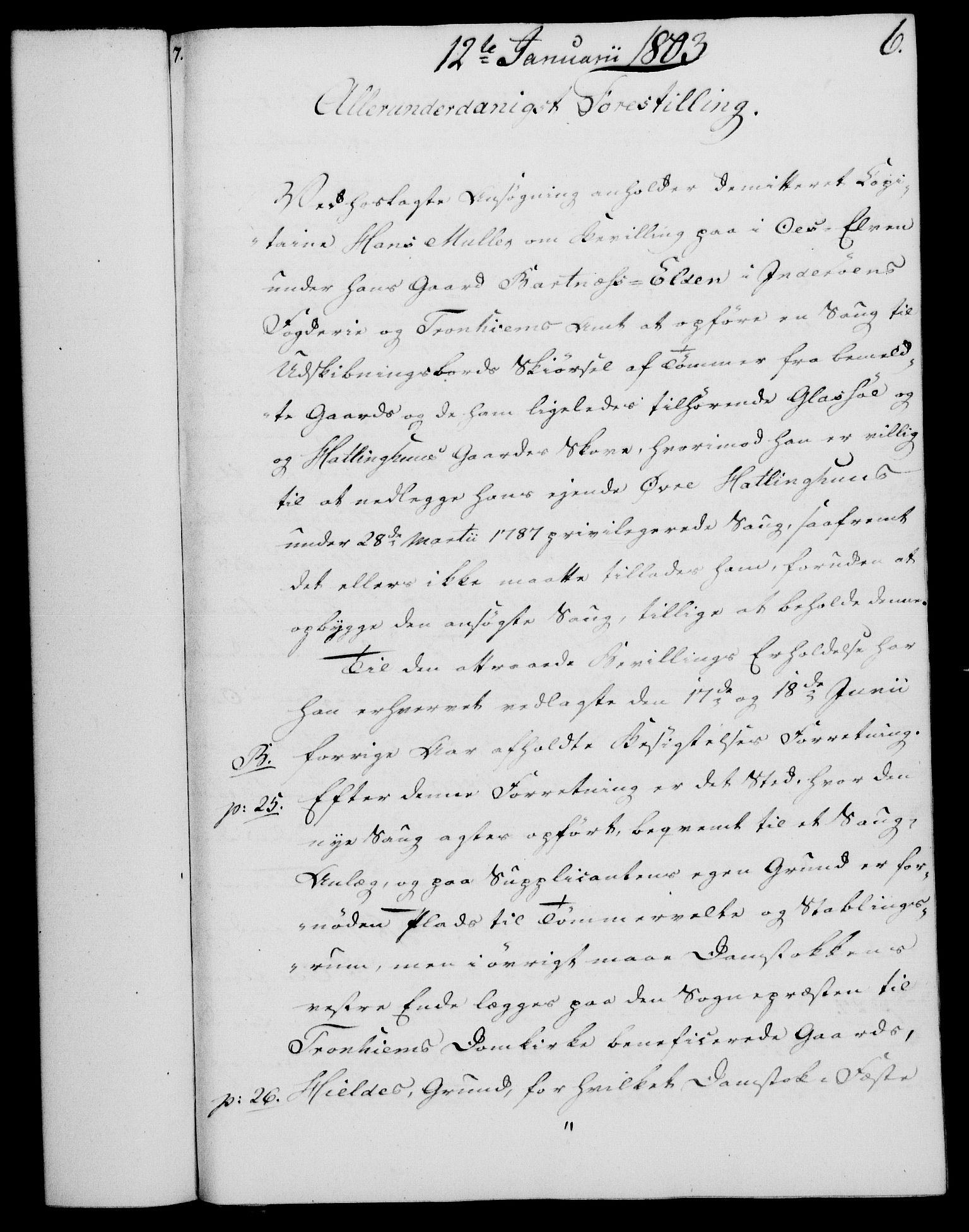RA, Rentekammeret, Kammerkanselliet, G/Gf/Gfa/L0085: Norsk relasjons- og resolusjonsprotokoll (merket RK 52.85), 1803, s. 53