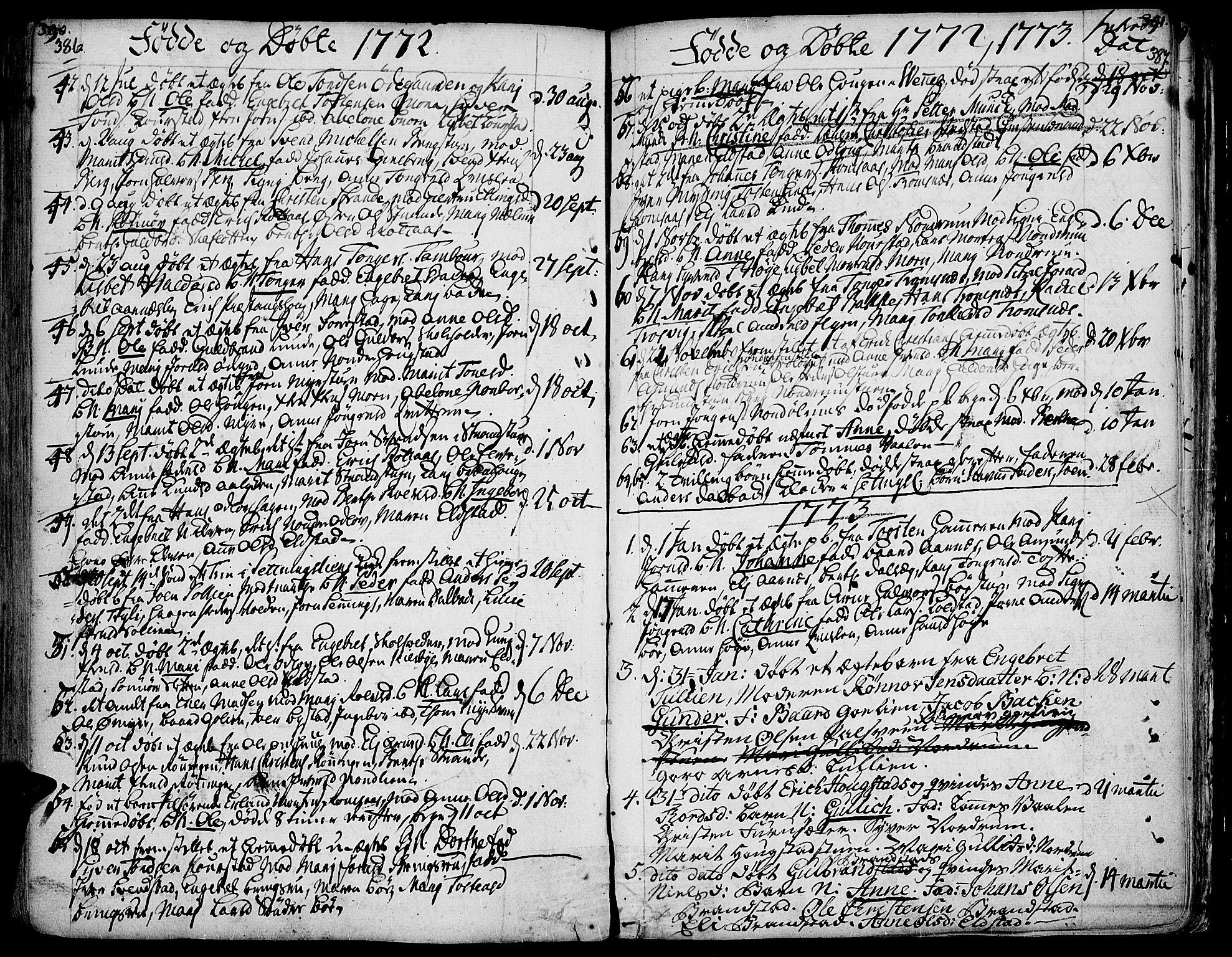 SAH, Ringebu prestekontor, Ministerialbok nr. 2, 1734-1780, s. 386-387