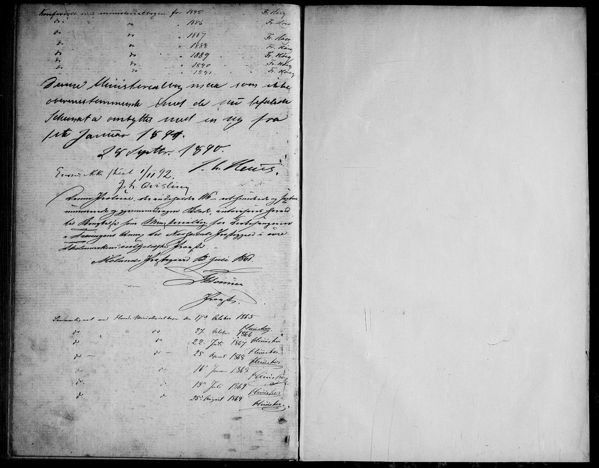 SAKO, Nissedal kirkebøker, G/Gb/L0002: Klokkerbok nr. II 2, 1863-1892