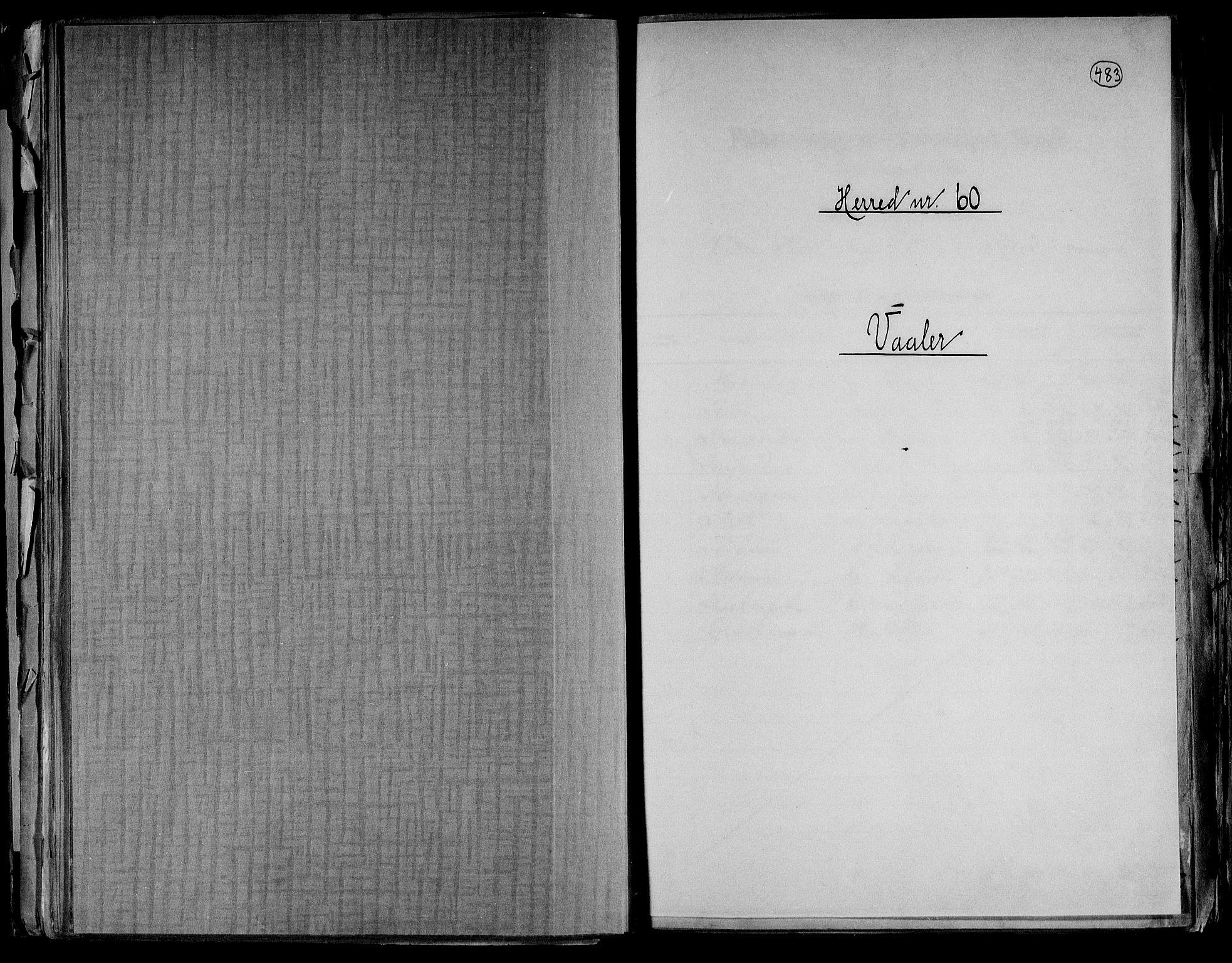 RA, Folketelling 1891 for 0426 Våler herred, 1891, s. 1