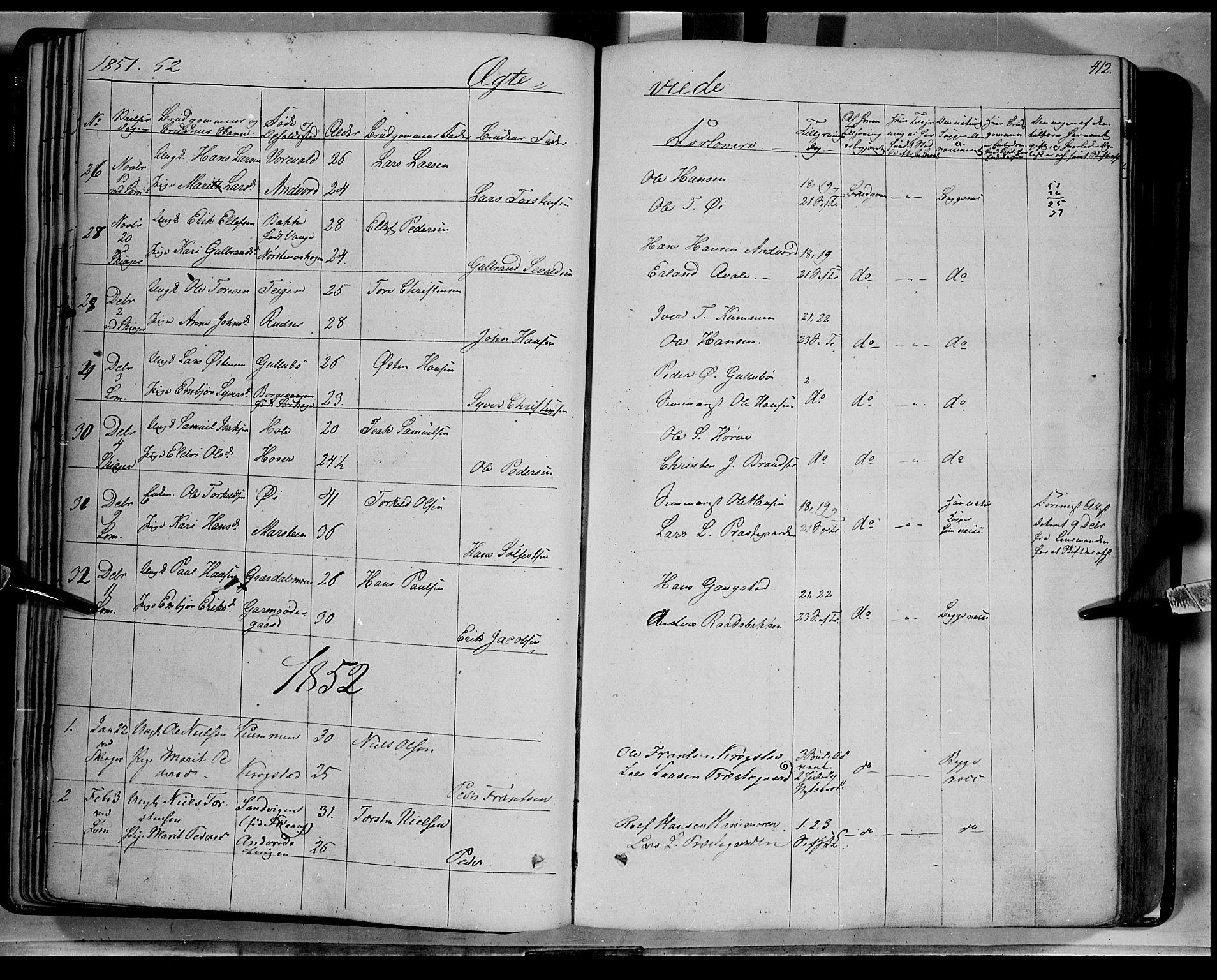 SAH, Lom prestekontor, K/L0006: Ministerialbok nr. 6B, 1837-1863, s. 412