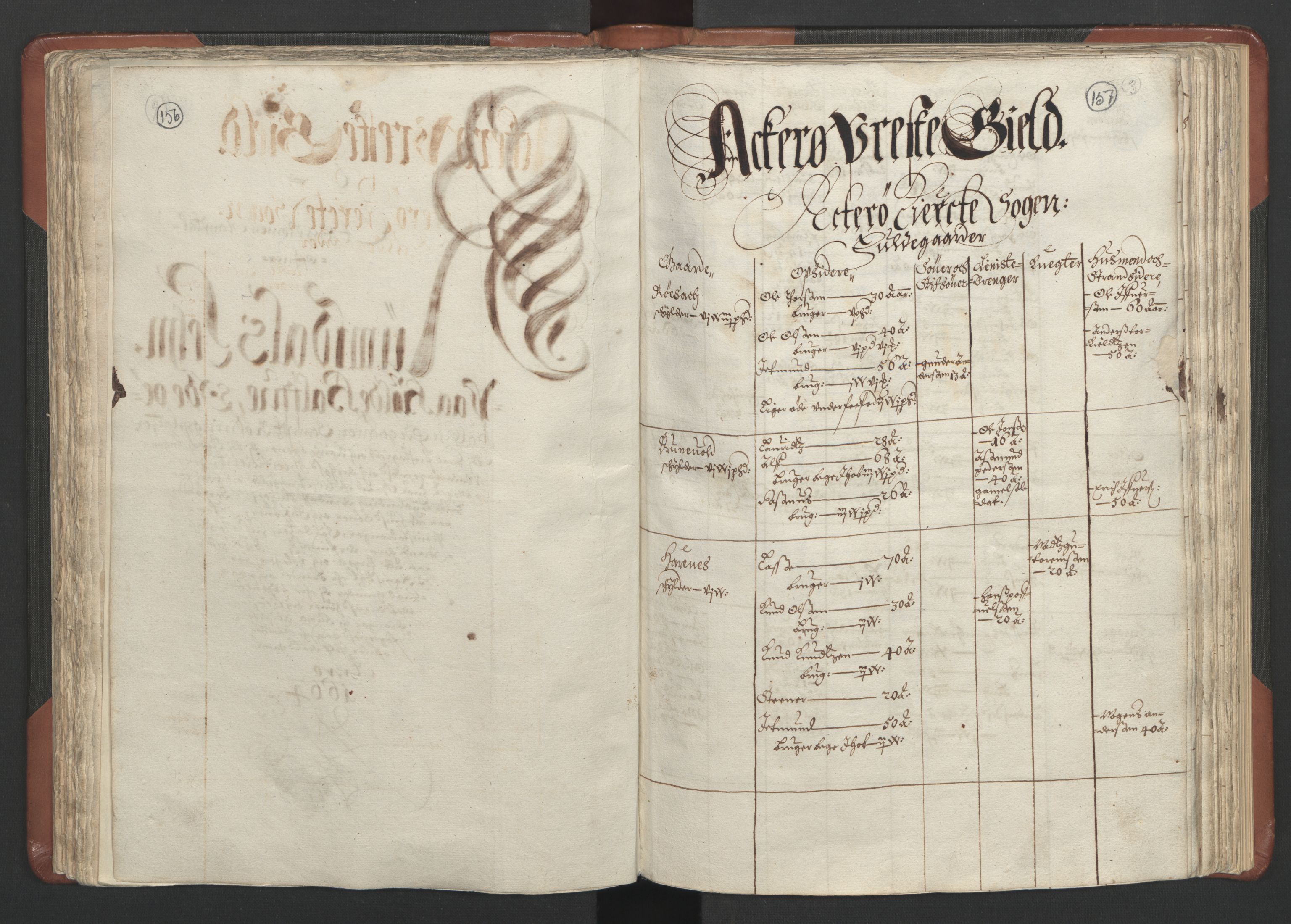 RA, Fogdenes og sorenskrivernes manntall 1664-1666, nr. 16: Romsdal fogderi og Sunnmøre fogderi, 1664-1665, s. 156-157