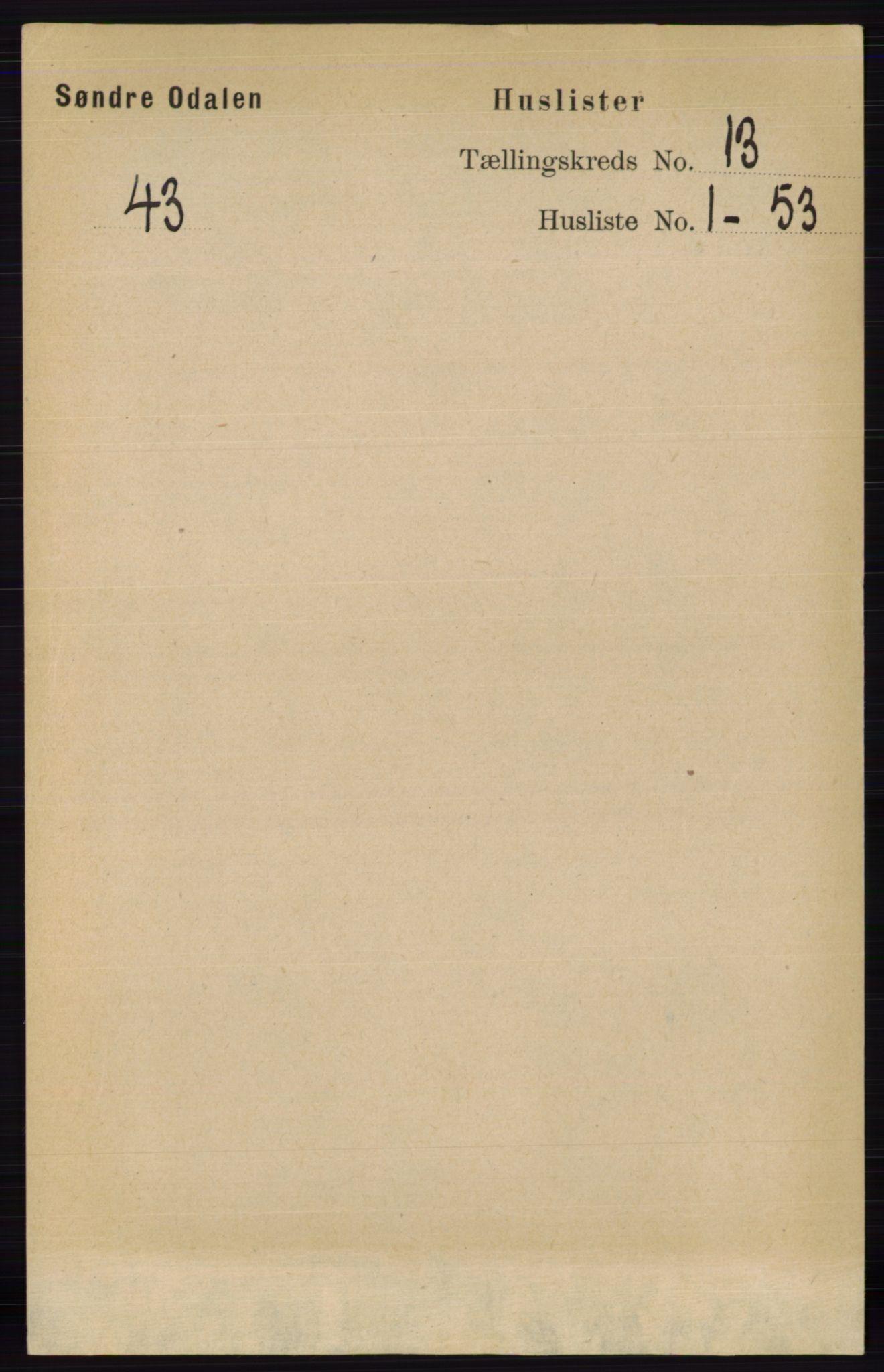 RA, Folketelling 1891 for 0419 Sør-Odal herred, 1891, s. 5506