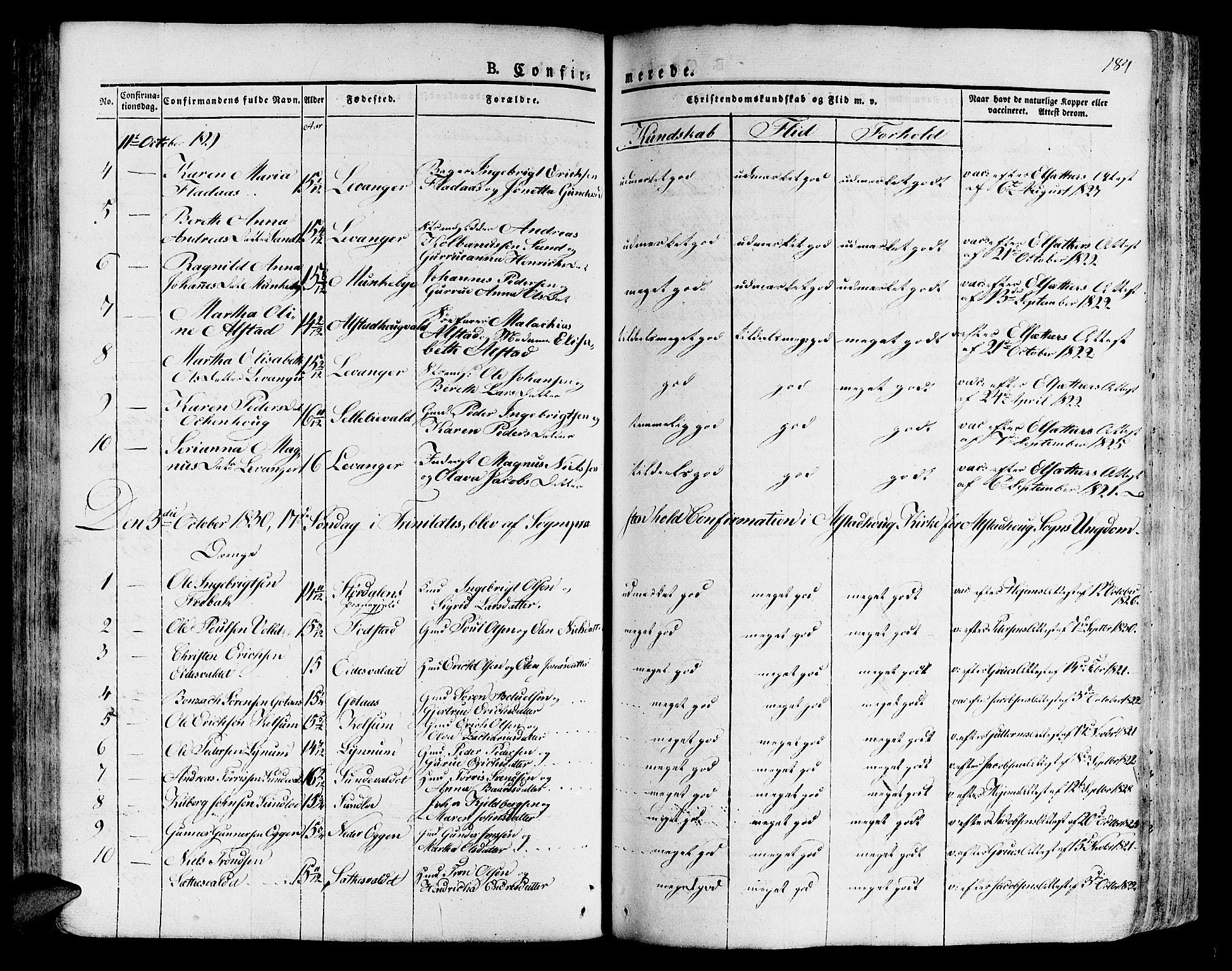 SAT, Ministerialprotokoller, klokkerbøker og fødselsregistre - Nord-Trøndelag, 717/L0152: Ministerialbok nr. 717A05 /1, 1825-1836, s. 184