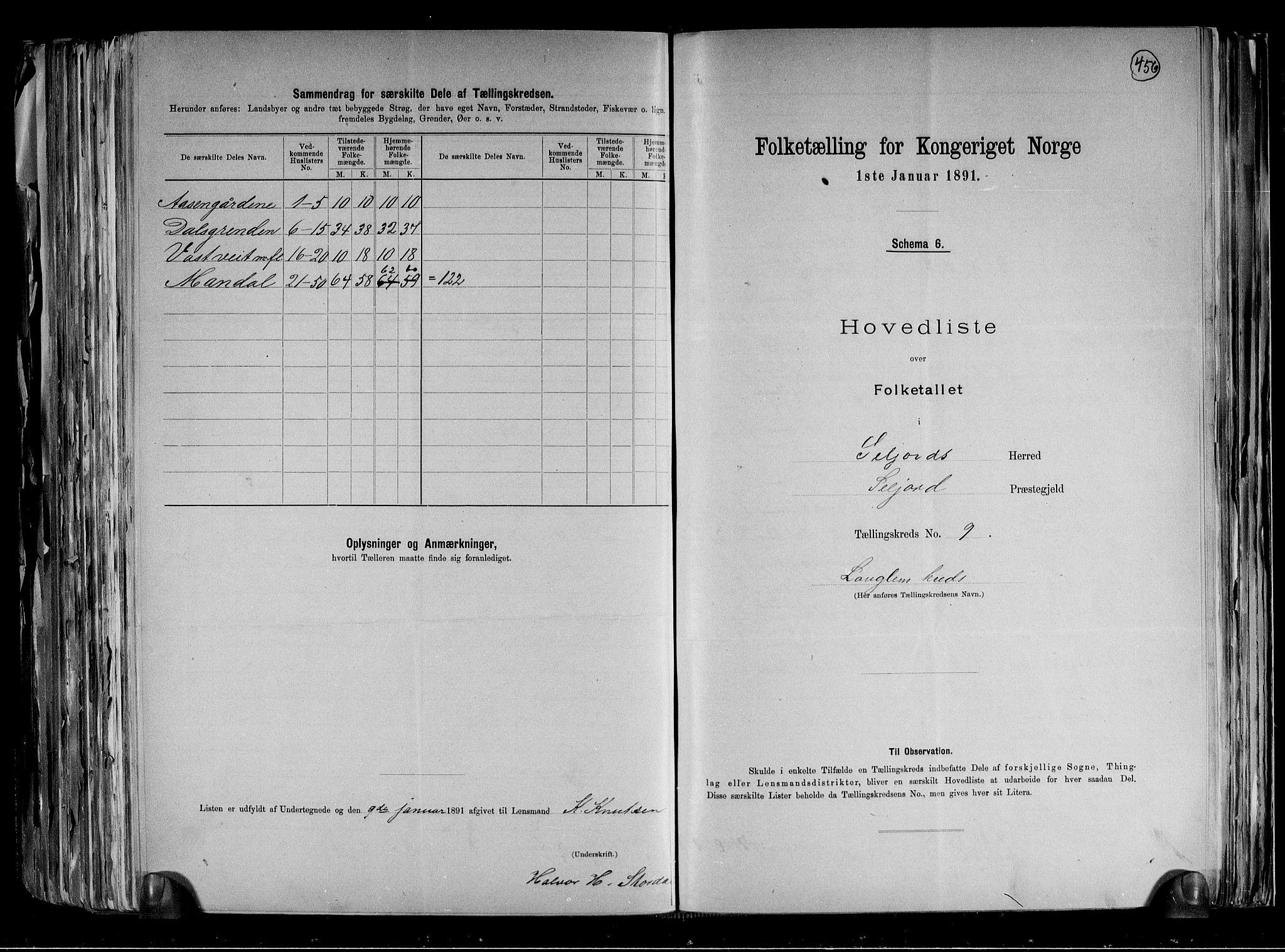 RA, Folketelling 1891 for 0828 Seljord herred, 1891, s. 20