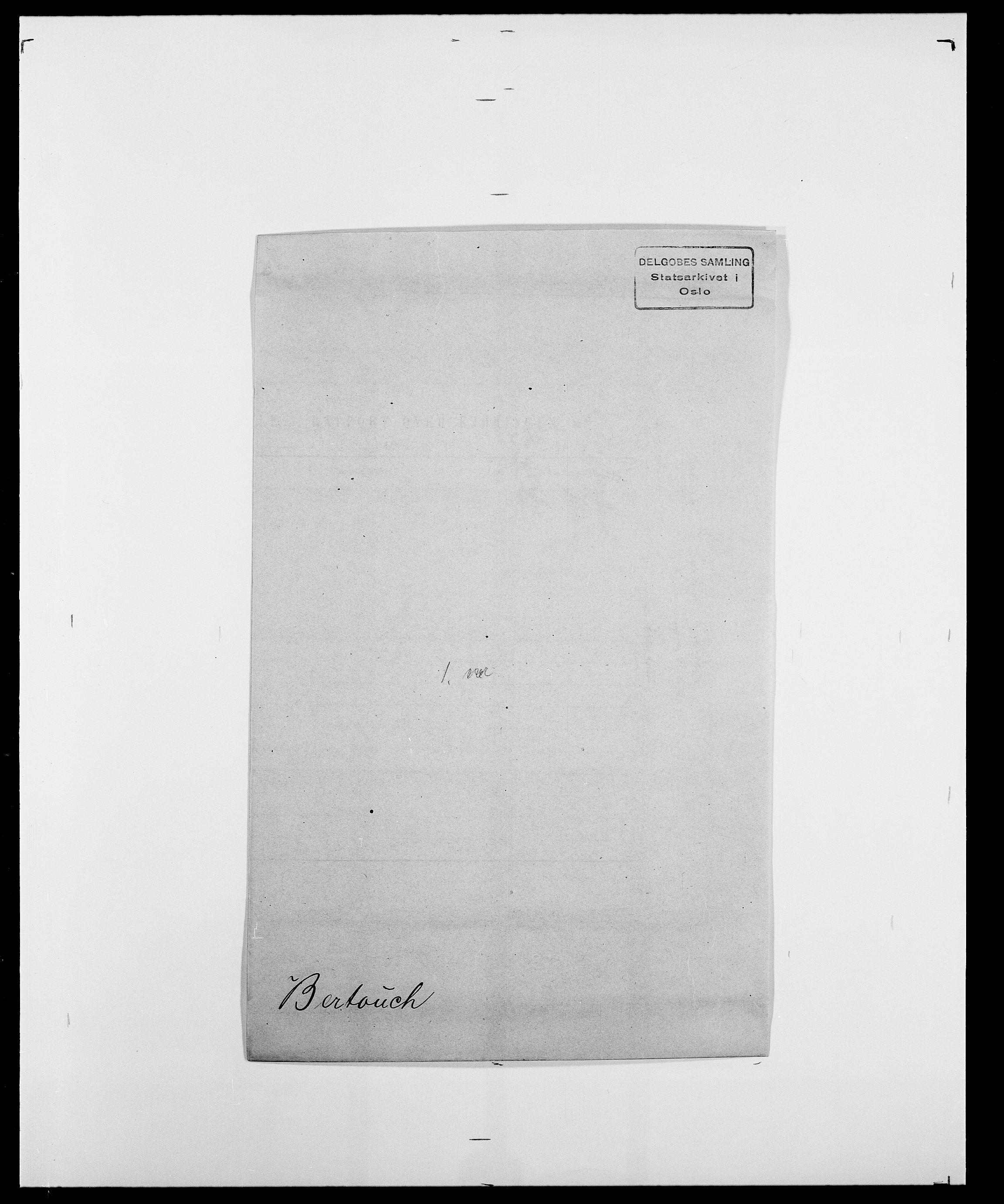 SAO, Delgobe, Charles Antoine - samling, D/Da/L0004: Bergendahl - Blære, s. 128