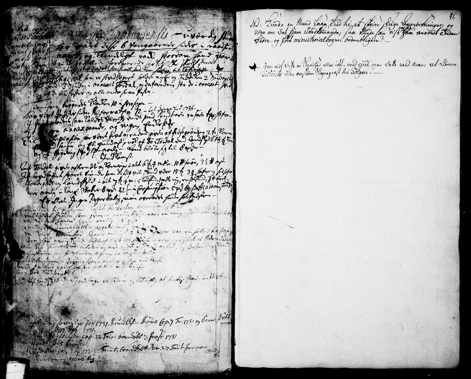 SAKO, Drangedal kirkebøker, F/Fa/L0001: Ministerialbok nr. 1, 1697-1767, s. 96