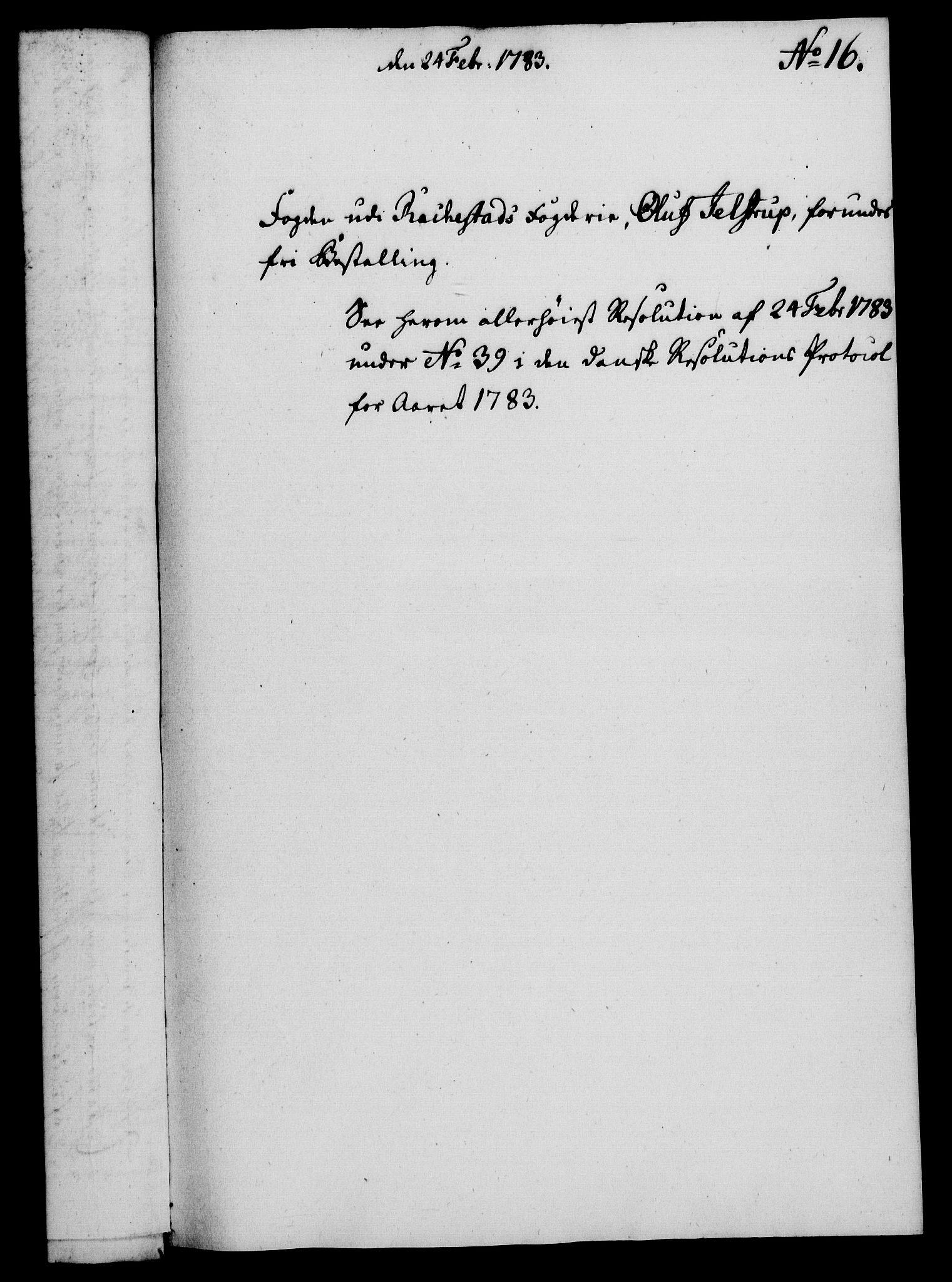 RA, Rentekammeret, Kammerkanselliet, G/Gf/Gfa/L0065: Norsk relasjons- og resolusjonsprotokoll (merket RK 52.65), 1783, s. 111