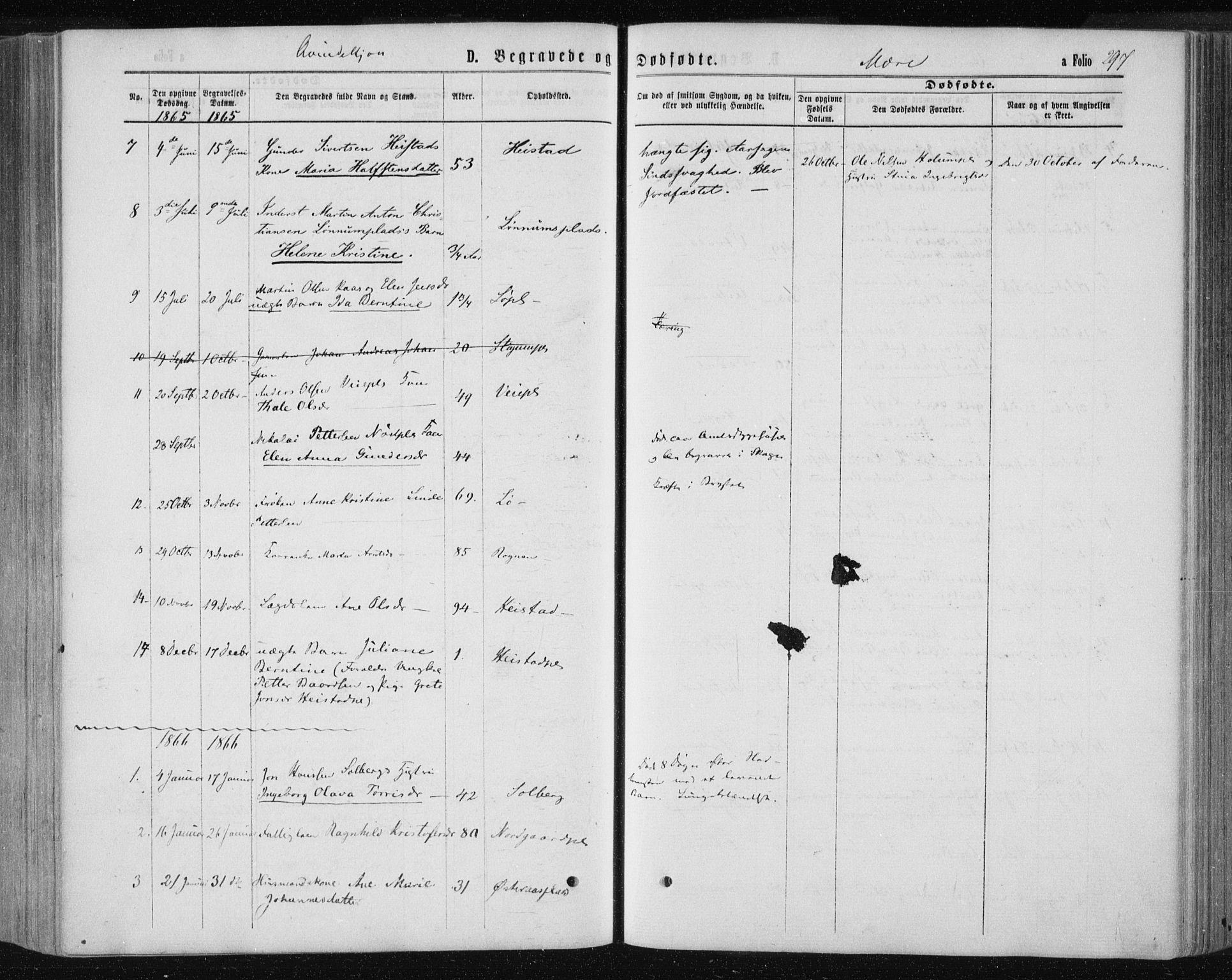 SAT, Ministerialprotokoller, klokkerbøker og fødselsregistre - Nord-Trøndelag, 735/L0345: Ministerialbok nr. 735A08 /1, 1863-1872, s. 297