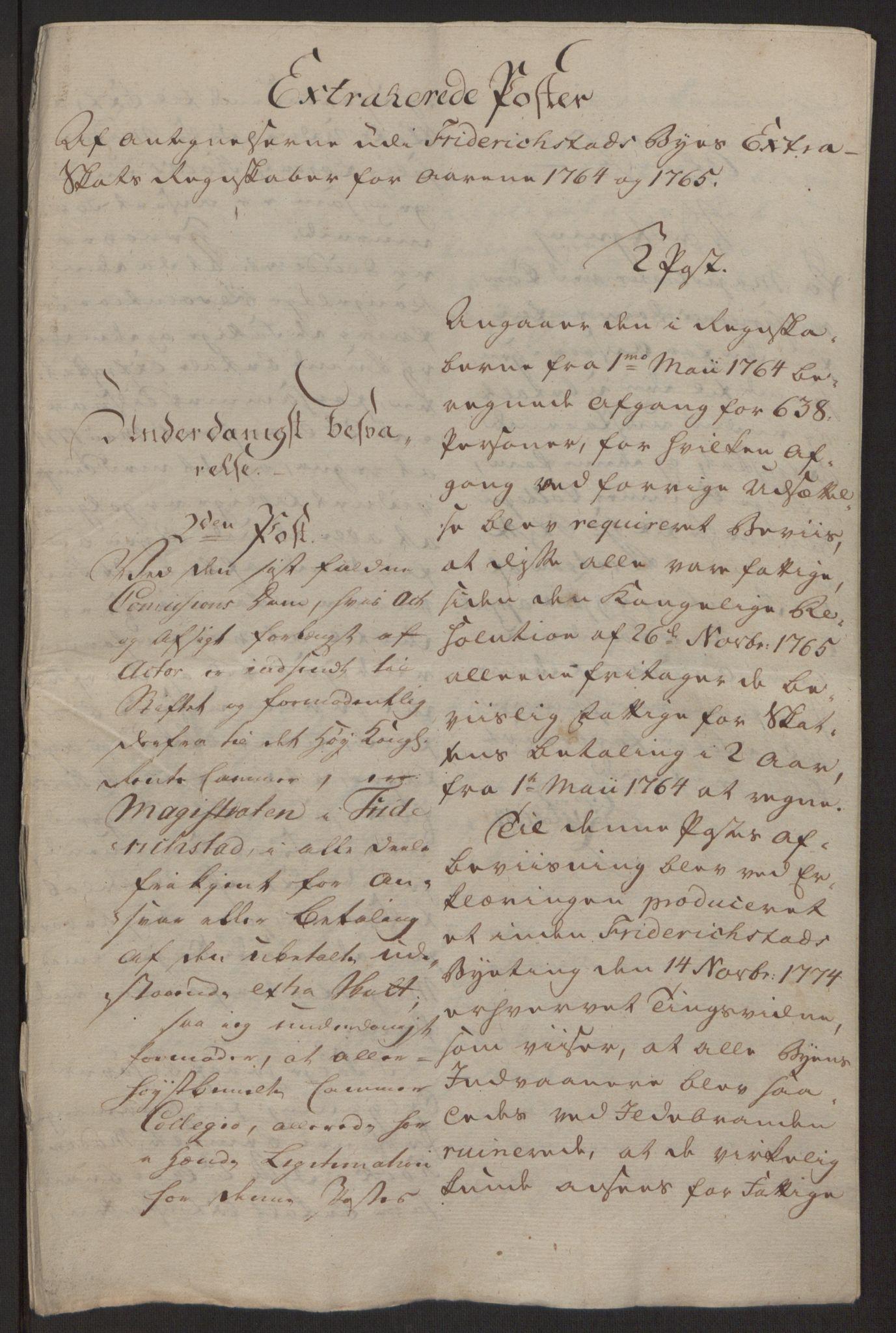 RA, Rentekammeret inntil 1814, Reviderte regnskaper, Byregnskaper, R/Rb/L0029: [B3] Kontribusjonsregnskap, 1762-1772, s. 166