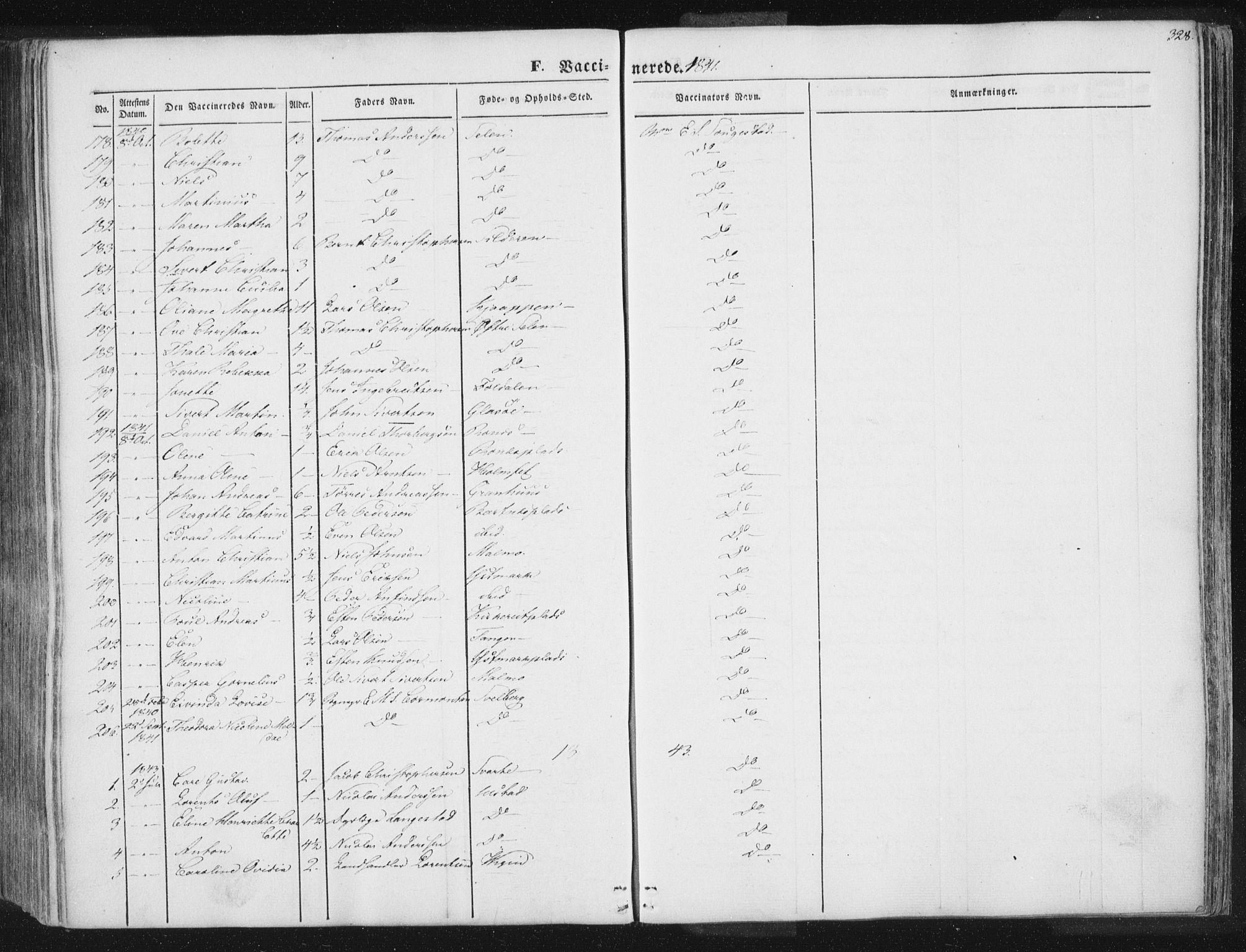 SAT, Ministerialprotokoller, klokkerbøker og fødselsregistre - Nord-Trøndelag, 741/L0392: Ministerialbok nr. 741A06, 1836-1848, s. 328