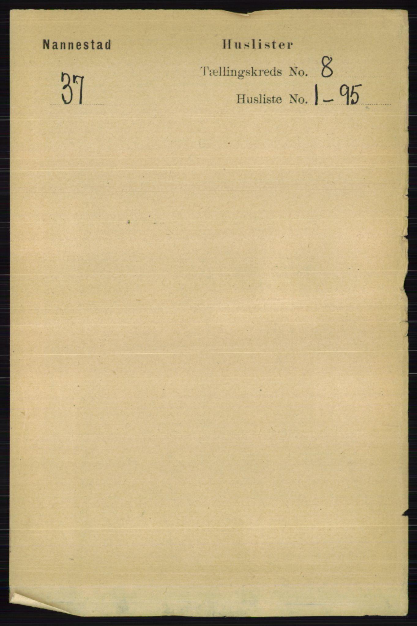 RA, Folketelling 1891 for 0238 Nannestad herred, 1891, s. 4331
