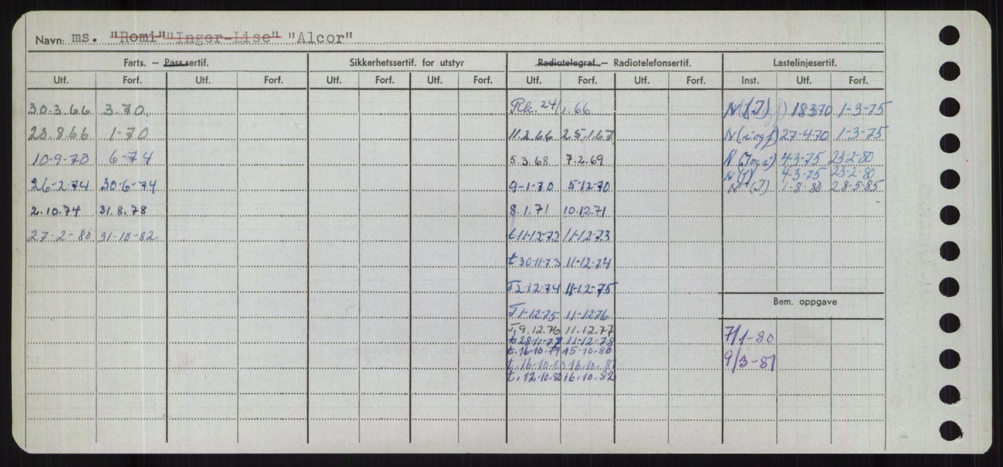 RA, Sjøfartsdirektoratet med forløpere, Skipsmålingen, H/Hd/L0001: Fartøy, A-Anv, s. 264