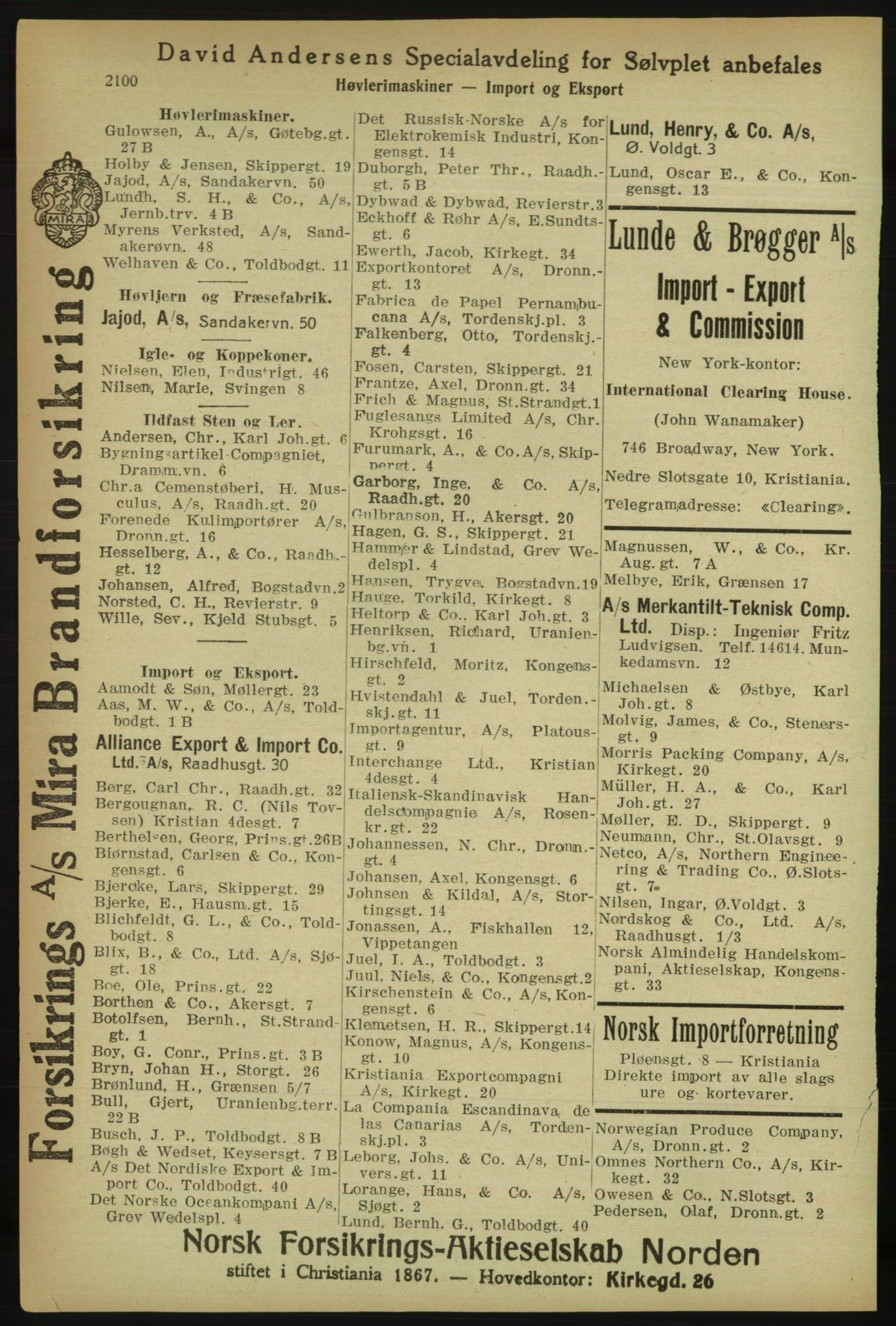 PUBL, Kristiania/Oslo adressebok, 1918, s. 2253