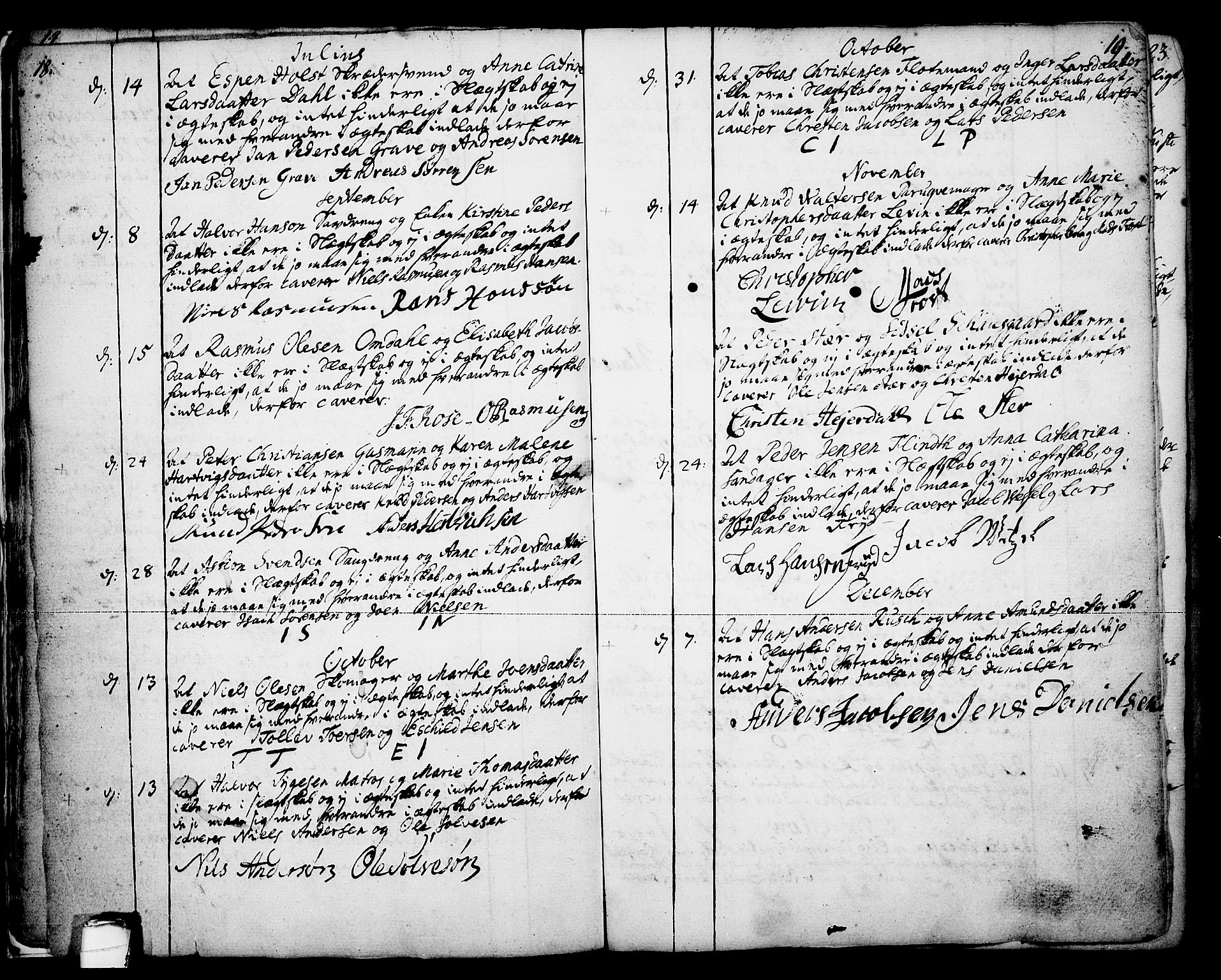 SAKO, Skien kirkebøker, F/Fa/L0003: Ministerialbok nr. 3, 1755-1791, s. 18-19