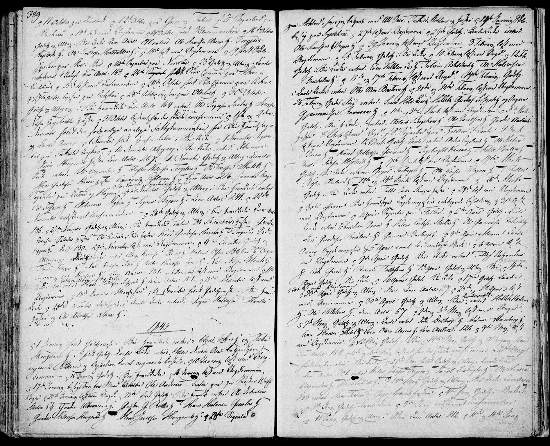 SAKO, Bø kirkebøker, F/Fa/L0007: Ministerialbok nr. 7, 1831-1848, s. 389