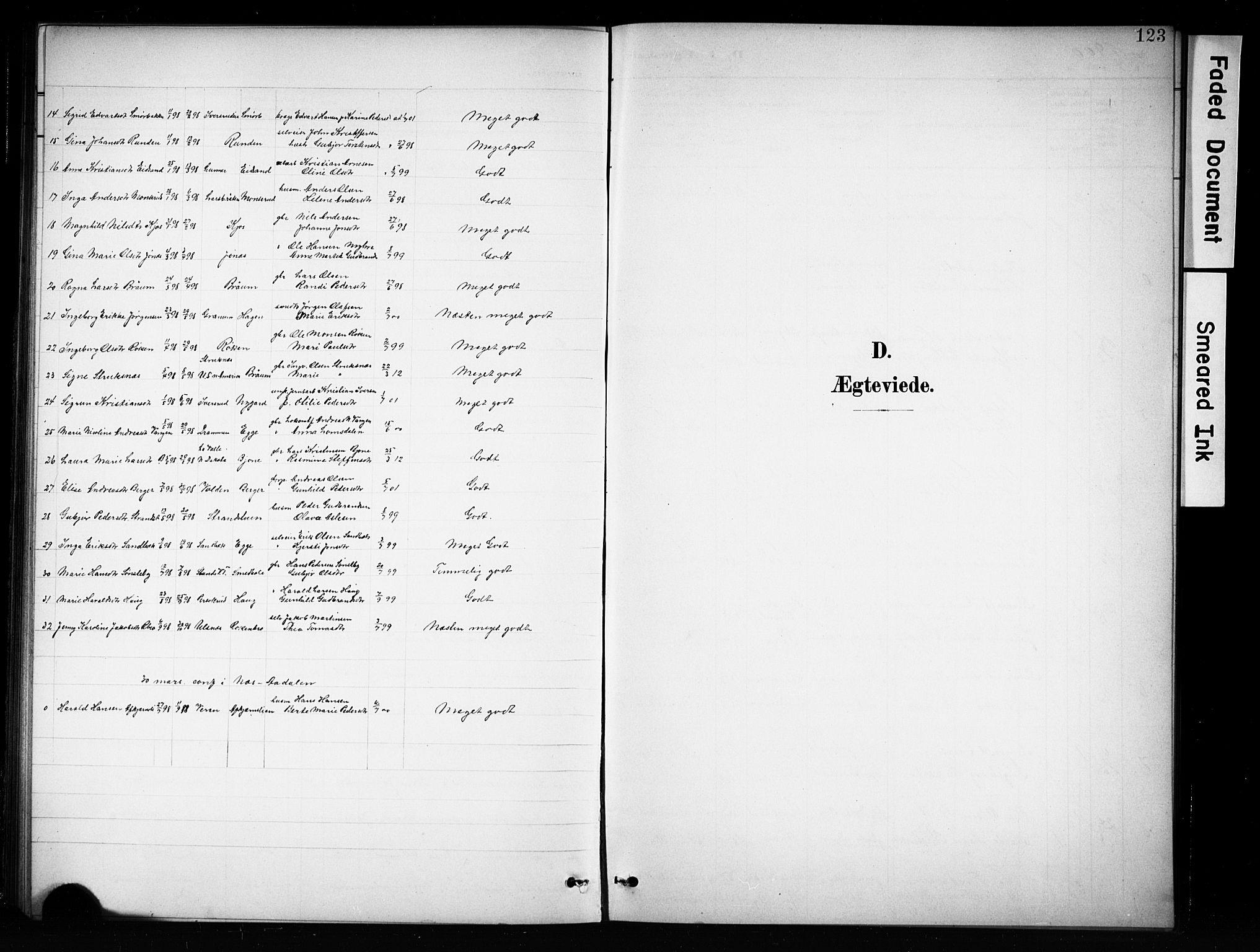 SAH, Brandbu prestekontor, Klokkerbok nr. 5, 1900-1913, s. 123