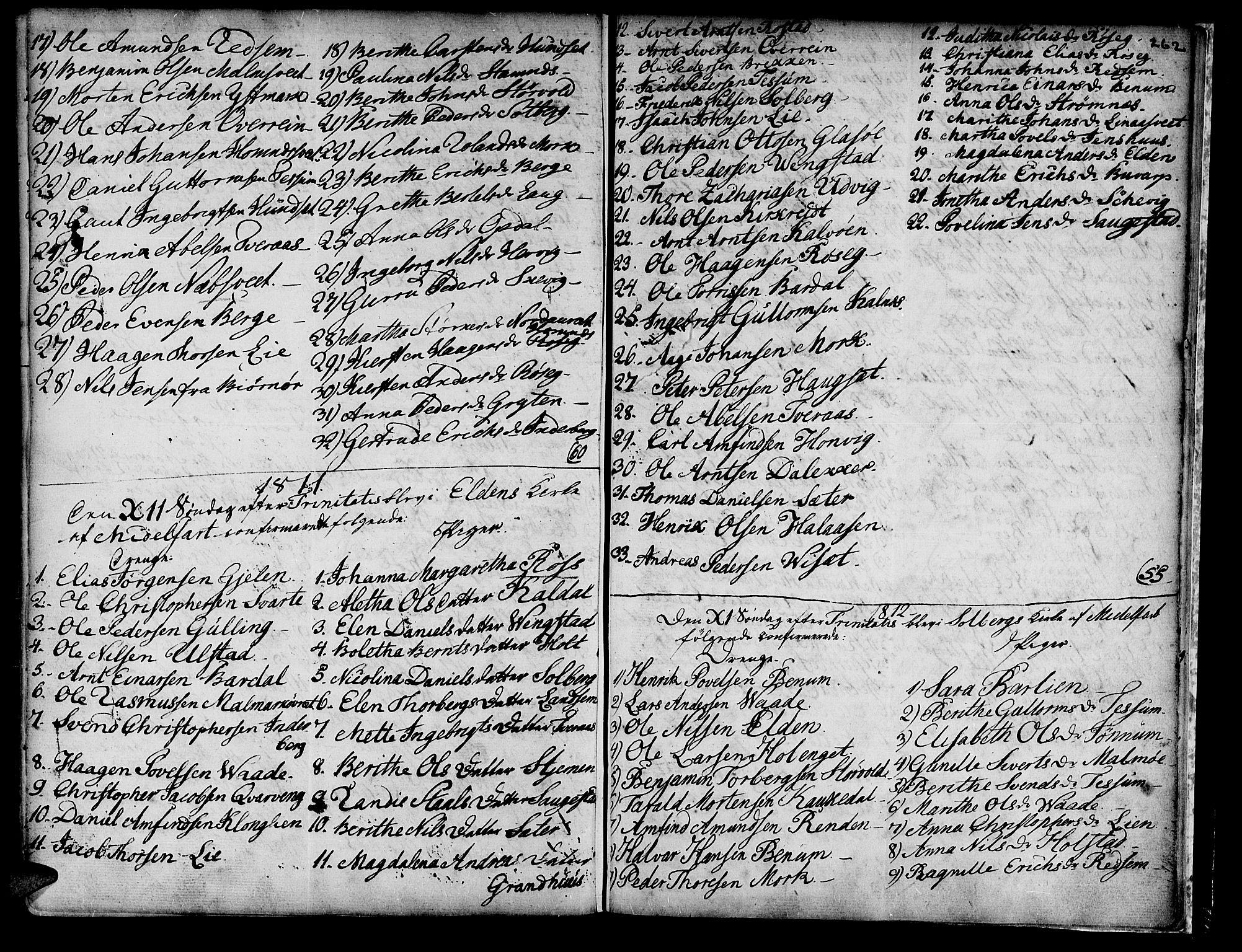 SAT, Ministerialprotokoller, klokkerbøker og fødselsregistre - Nord-Trøndelag, 741/L0385: Ministerialbok nr. 741A01, 1722-1815, s. 262