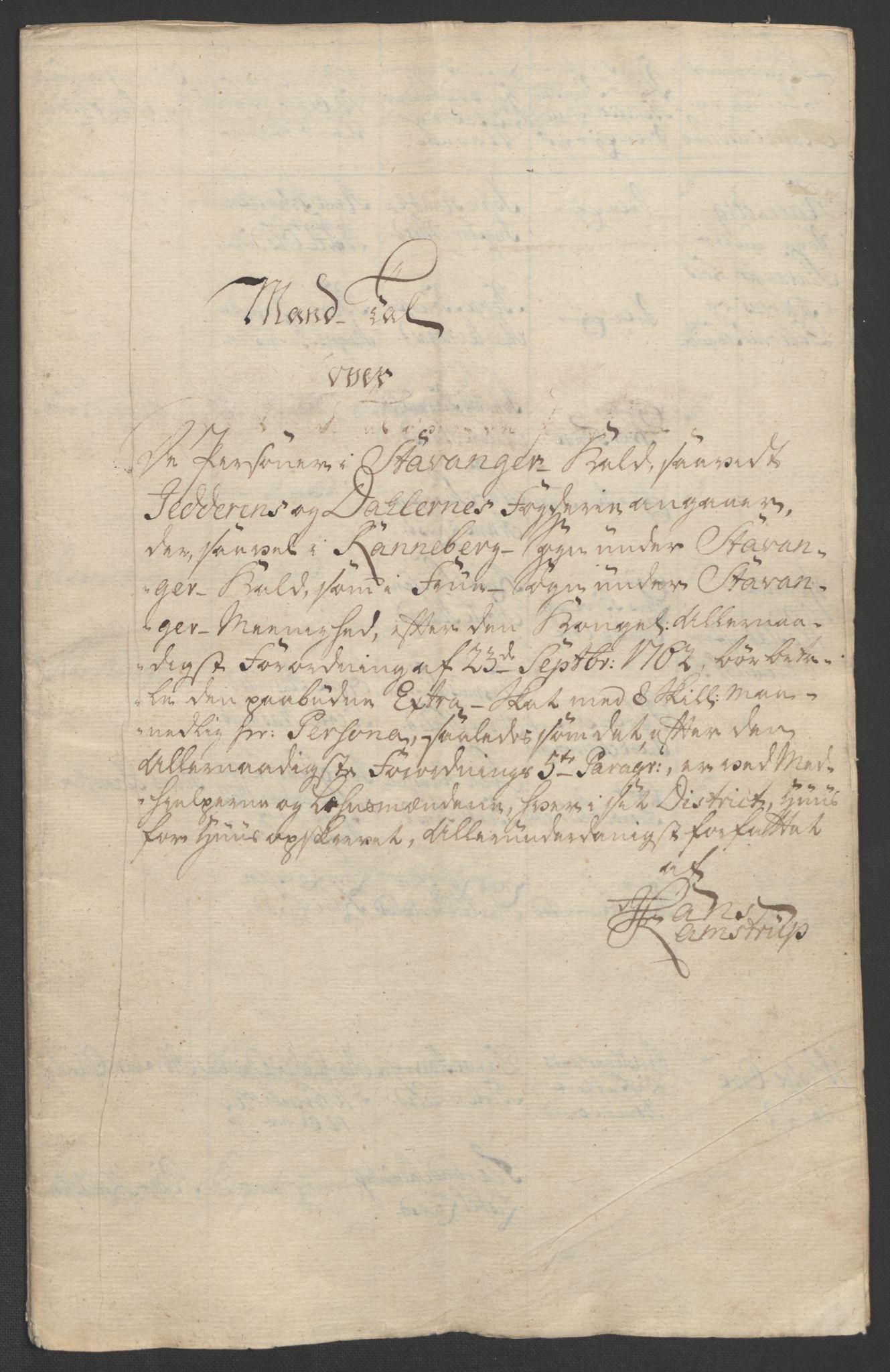 RA, Rentekammeret inntil 1814, Realistisk ordnet avdeling, Ol/L0015: [Gg 10]: Ekstraskatten, 23.09.1762. Stavanger by, Jæren og Dalane, Bergen, 1762-1764, s. 5
