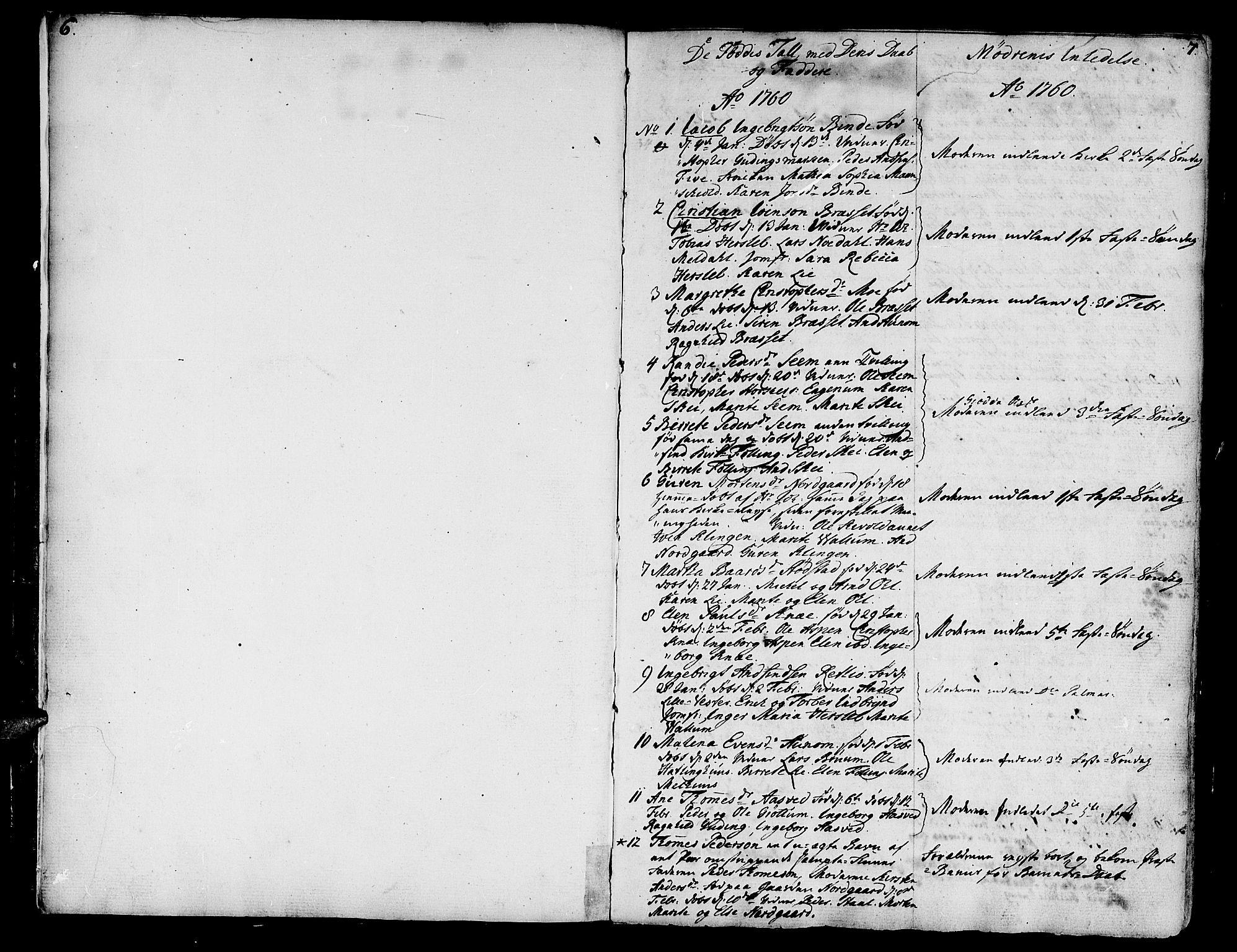SAT, Ministerialprotokoller, klokkerbøker og fødselsregistre - Nord-Trøndelag, 746/L0440: Ministerialbok nr. 746A02, 1760-1815, s. 6-7