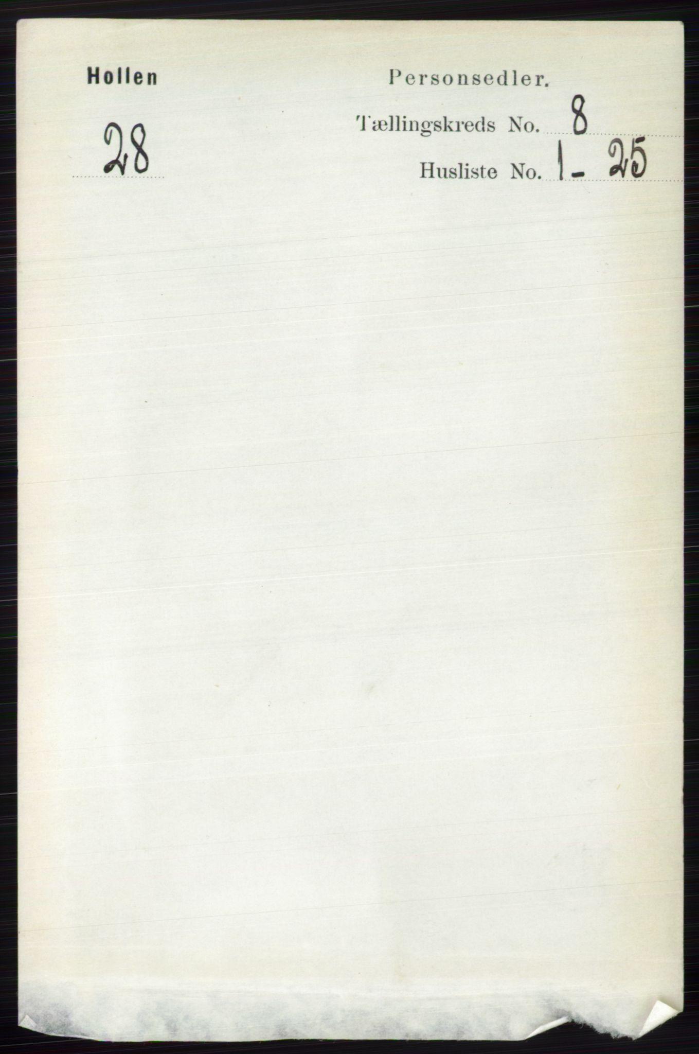 RA, Folketelling 1891 for 0819 Holla herred, 1891, s. 3649