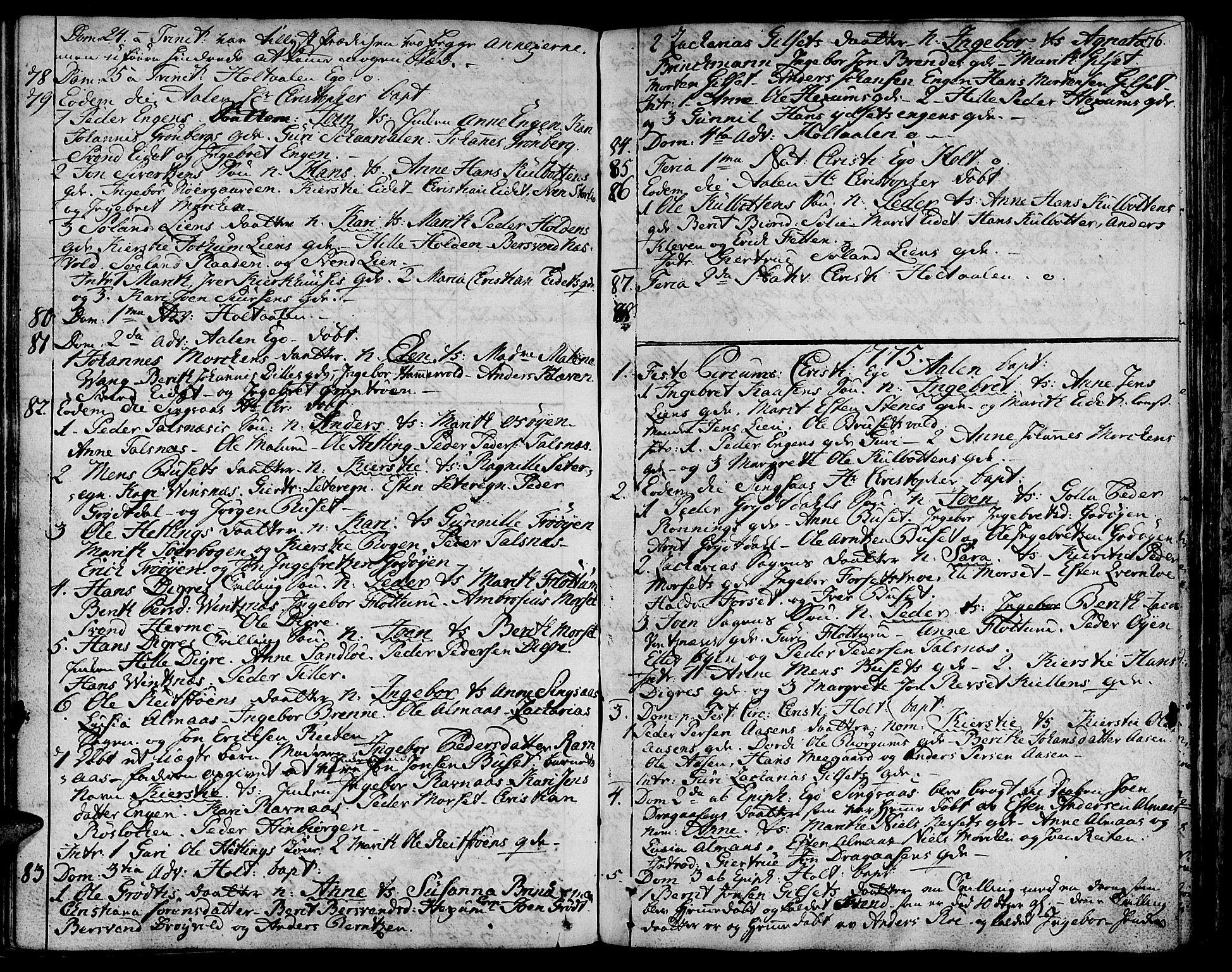 SAT, Ministerialprotokoller, klokkerbøker og fødselsregistre - Sør-Trøndelag, 685/L0952: Ministerialbok nr. 685A01, 1745-1804, s. 76