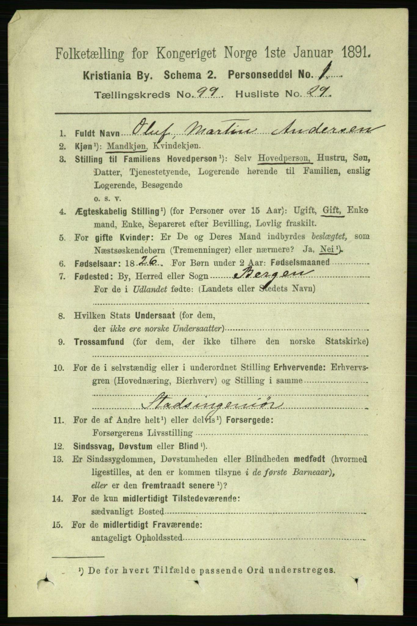 RA, Folketelling 1891 for 0301 Kristiania kjøpstad, 1891, s. 49074