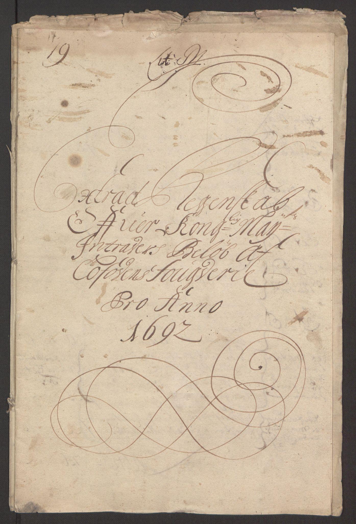 RA, Rentekammeret inntil 1814, Reviderte regnskaper, Fogderegnskap, R67/L4675: Fogderegnskap Vesterålen, Andenes og Lofoten, 1691-1693, s. 111