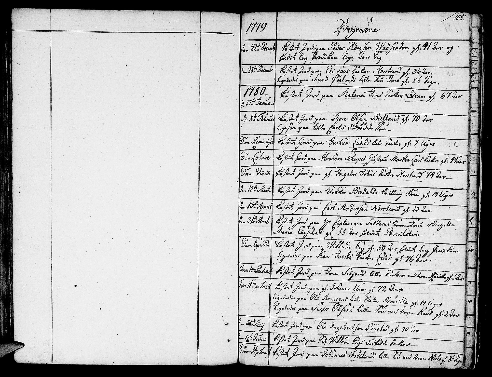 SAST, Nedstrand sokneprestkontor, IV: Ministerialbok nr. A 4, 1779-1795, s. 108