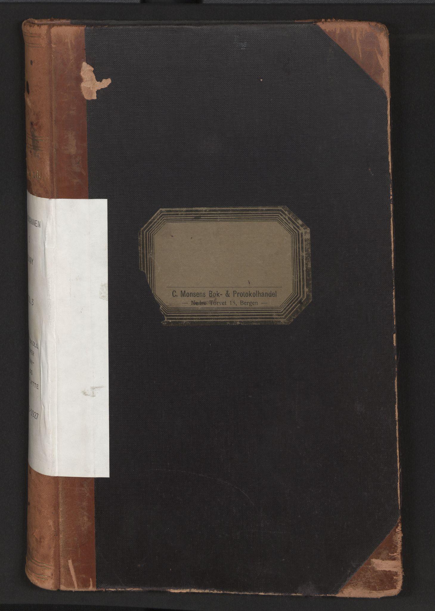 SAB, Lensmannen i Askøy, 0020/L0003: Protokoll over inn- og utflytte, 1915-1923
