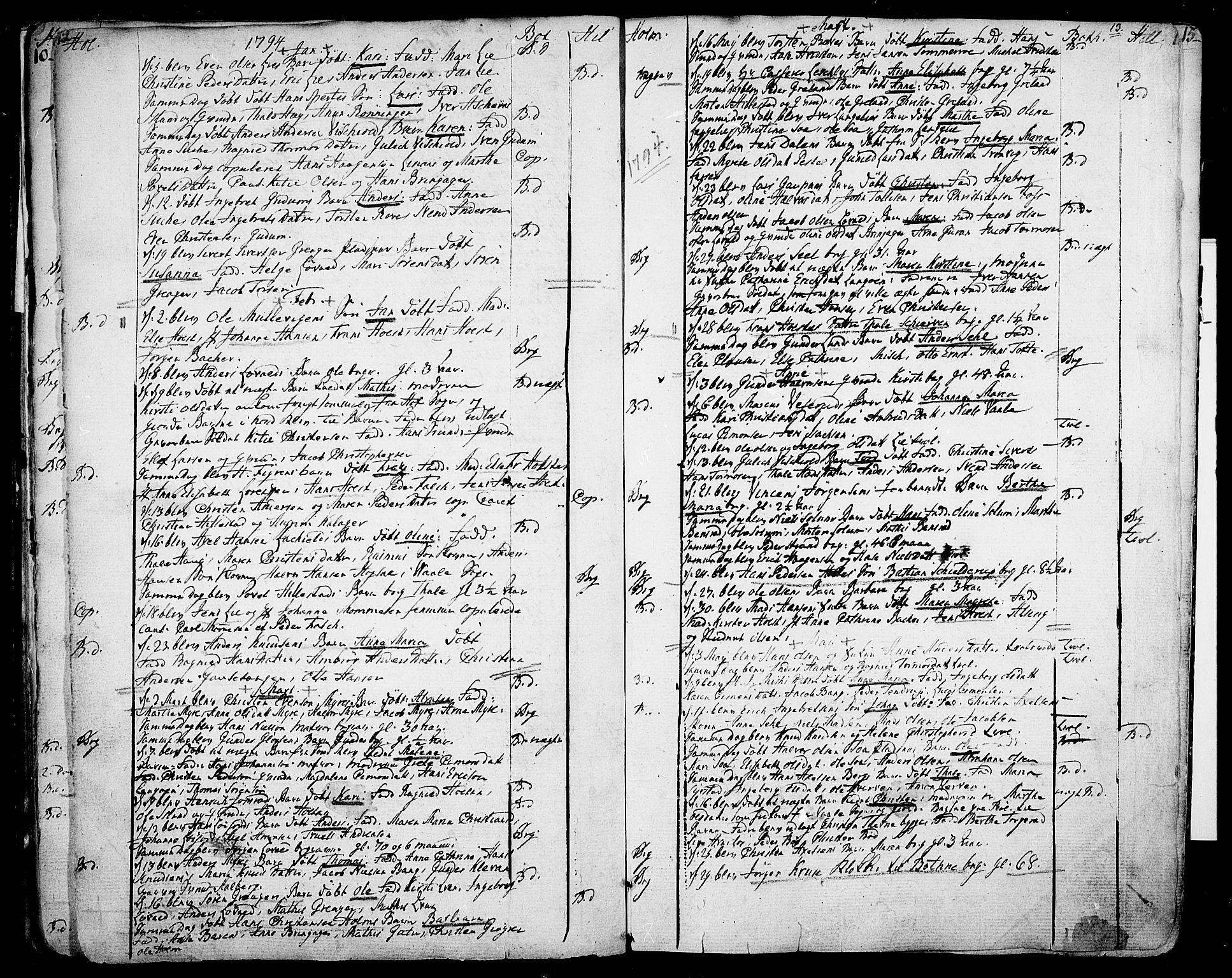 SAKO, Botne kirkebøker, F/Fa/L0003: Ministerialbok nr. I 3 /1, 1792-1844, s. 12-13