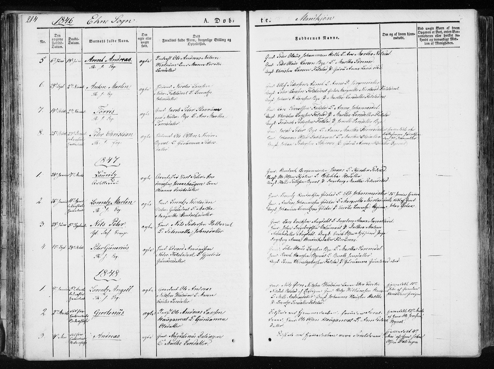 SAT, Ministerialprotokoller, klokkerbøker og fødselsregistre - Nord-Trøndelag, 717/L0154: Ministerialbok nr. 717A06 /2, 1836-1849, s. 214
